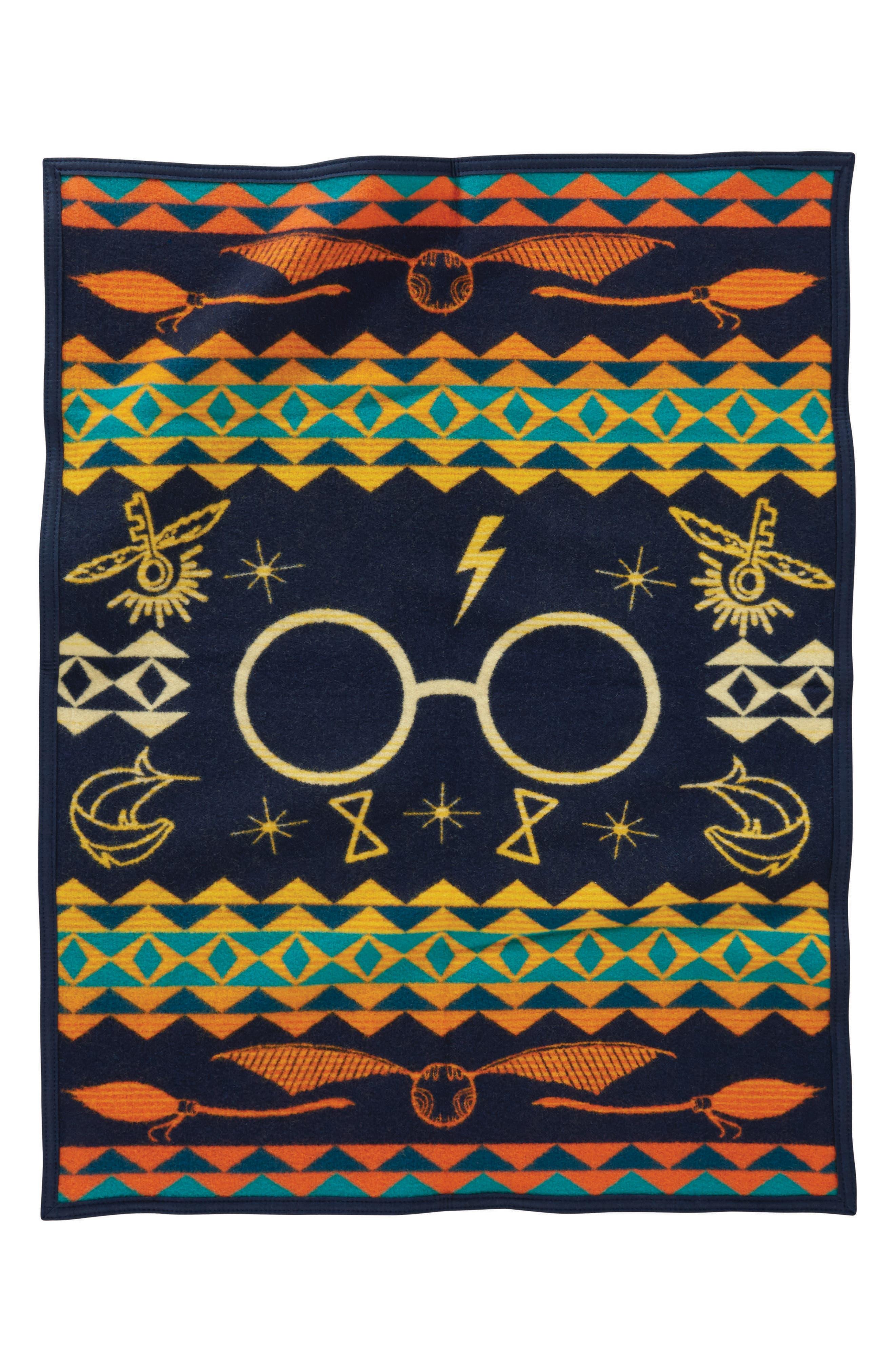 Harry Potter - Harry's Journey Crib Blanket,                             Alternate thumbnail 2, color,                             Orange