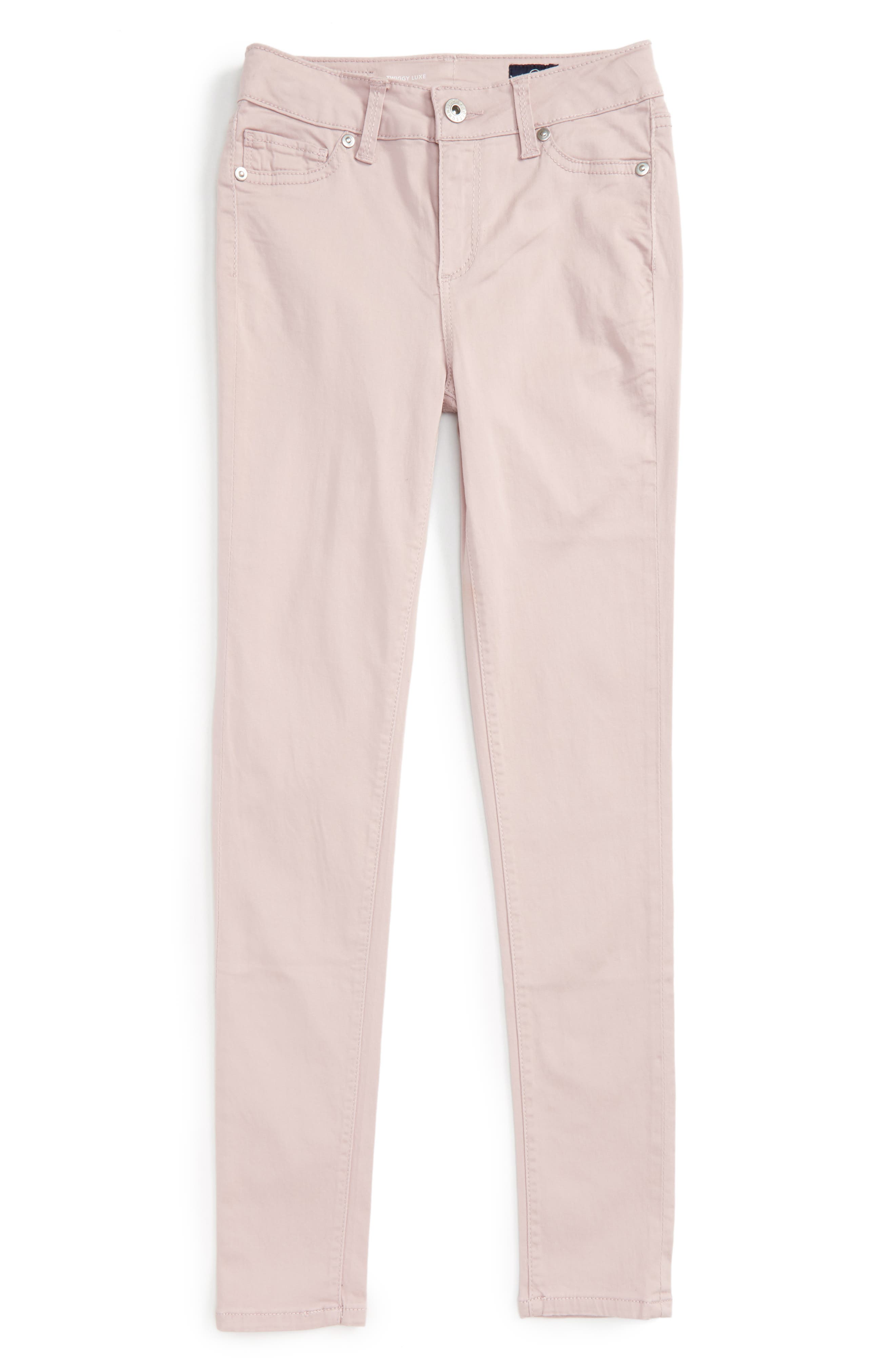 Twiggy Ankle Skinny Jeans,                             Main thumbnail 1, color,                             Light Pink