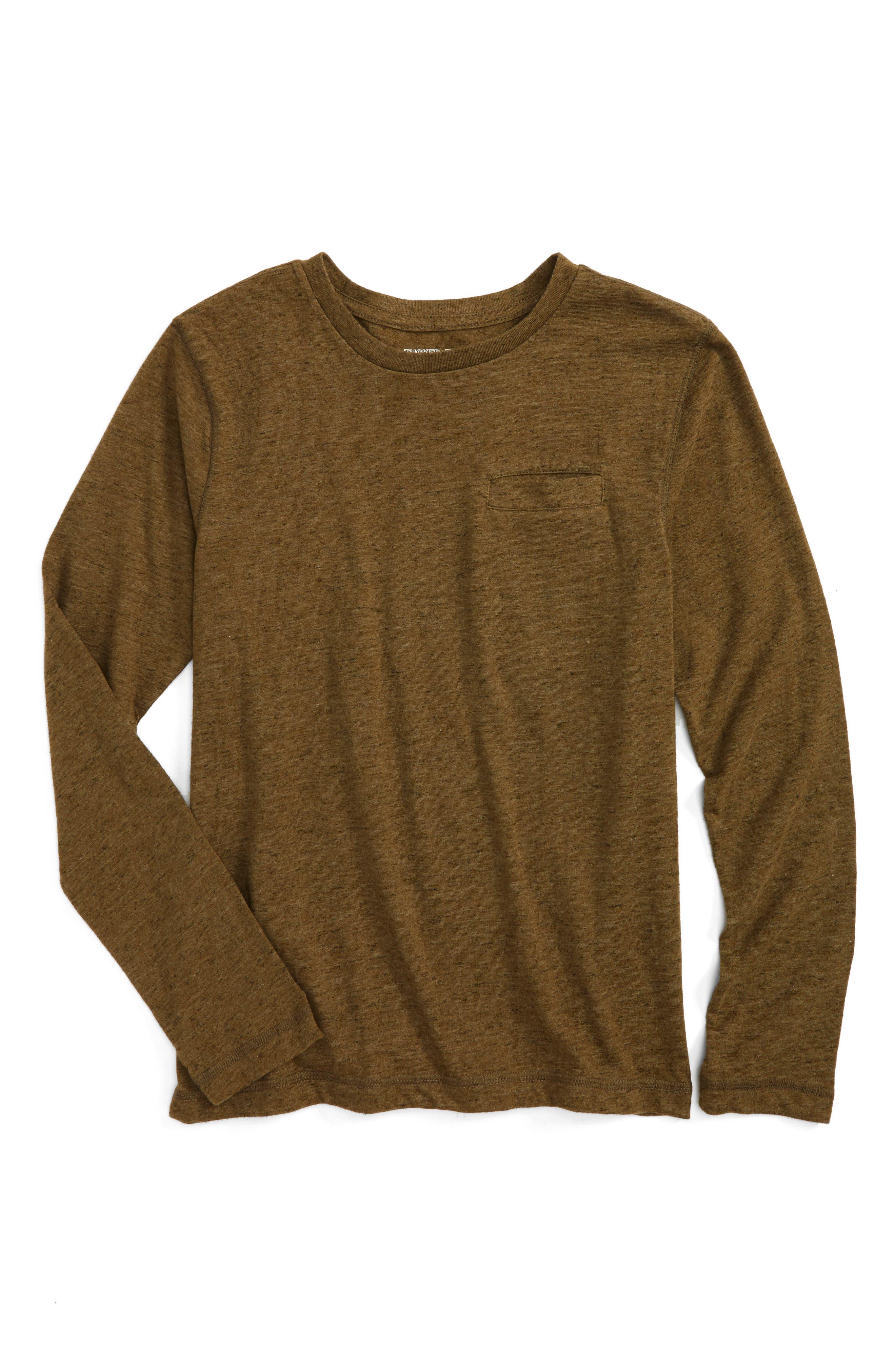 Pocket T-Shirt,                             Main thumbnail 1, color,                             Olive Dark