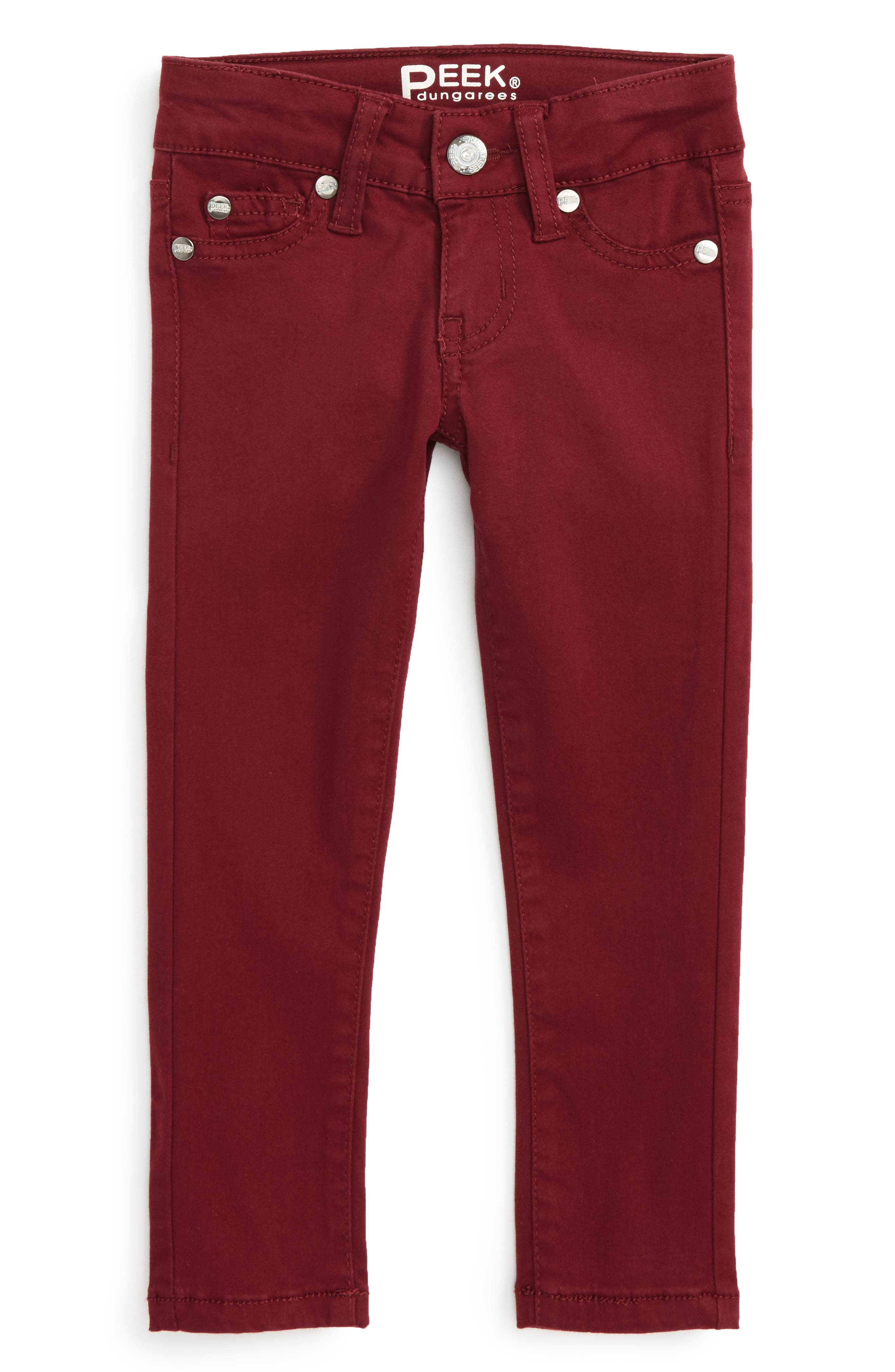 Taylor Skinny Jeans,                             Main thumbnail 1, color,                             Berry