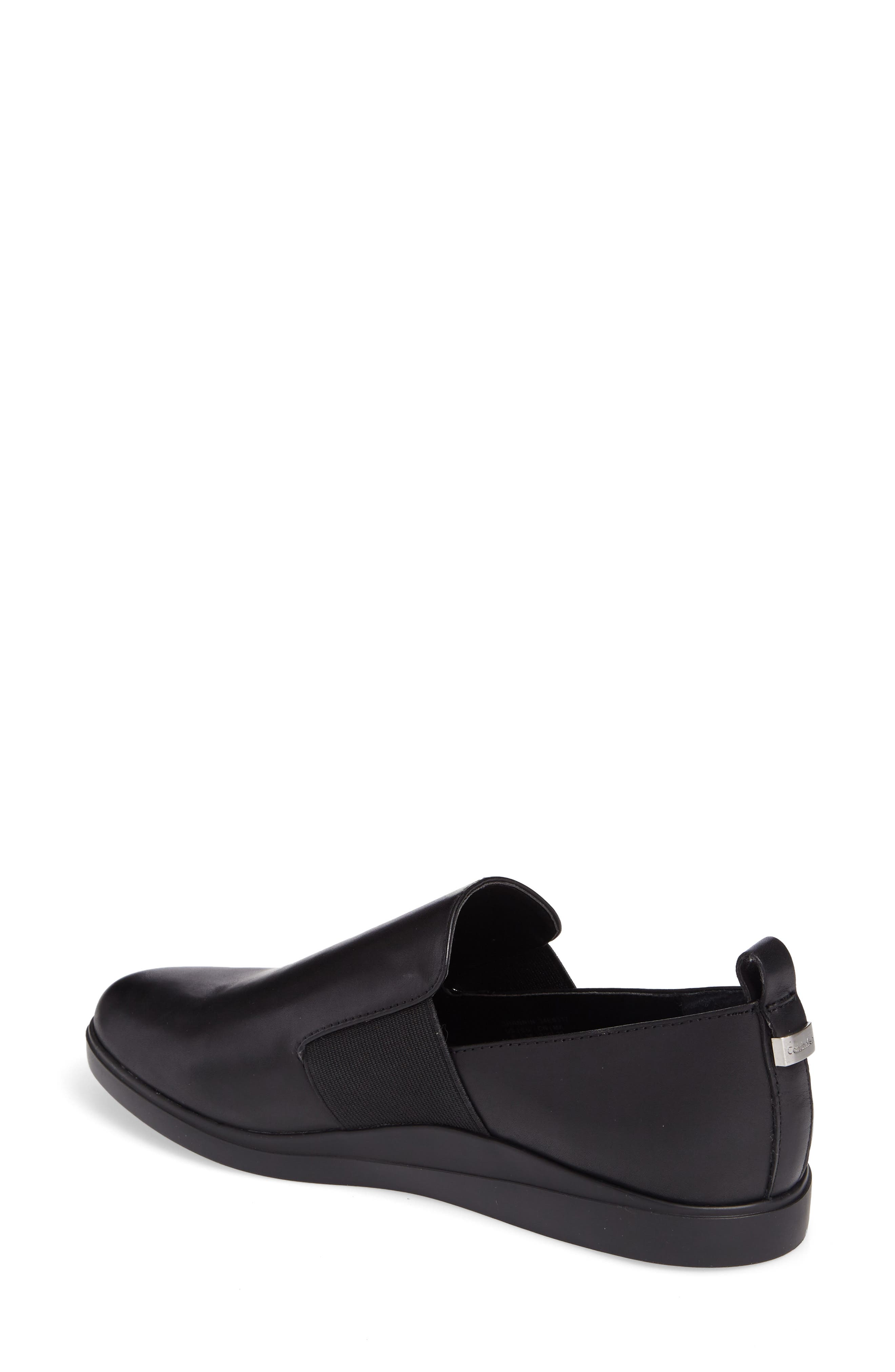 Shannin Loafer,                             Alternate thumbnail 2, color,                             Black Leather