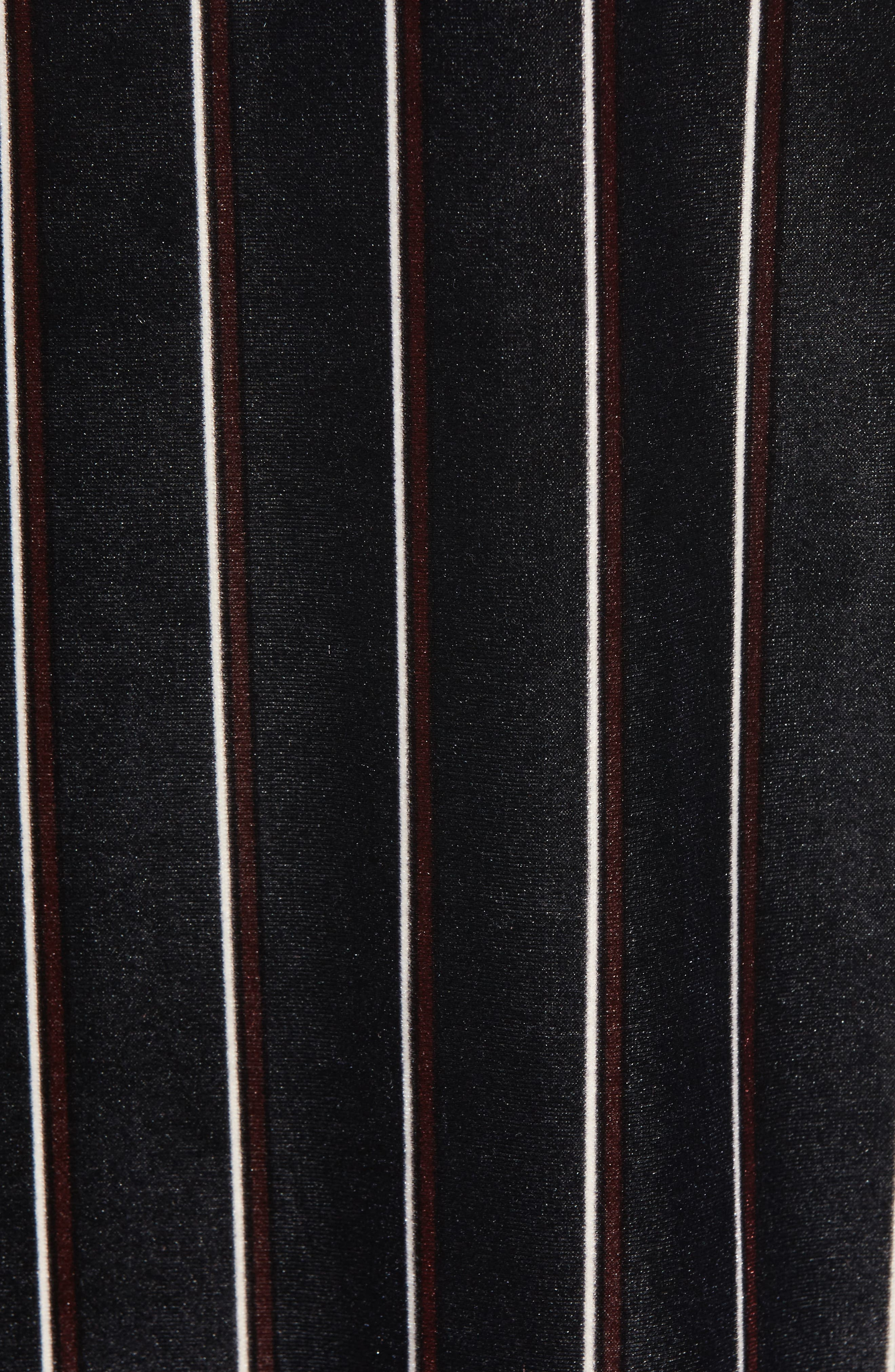 Alternate Image 5  - Leith Stripe Velour Slipdress