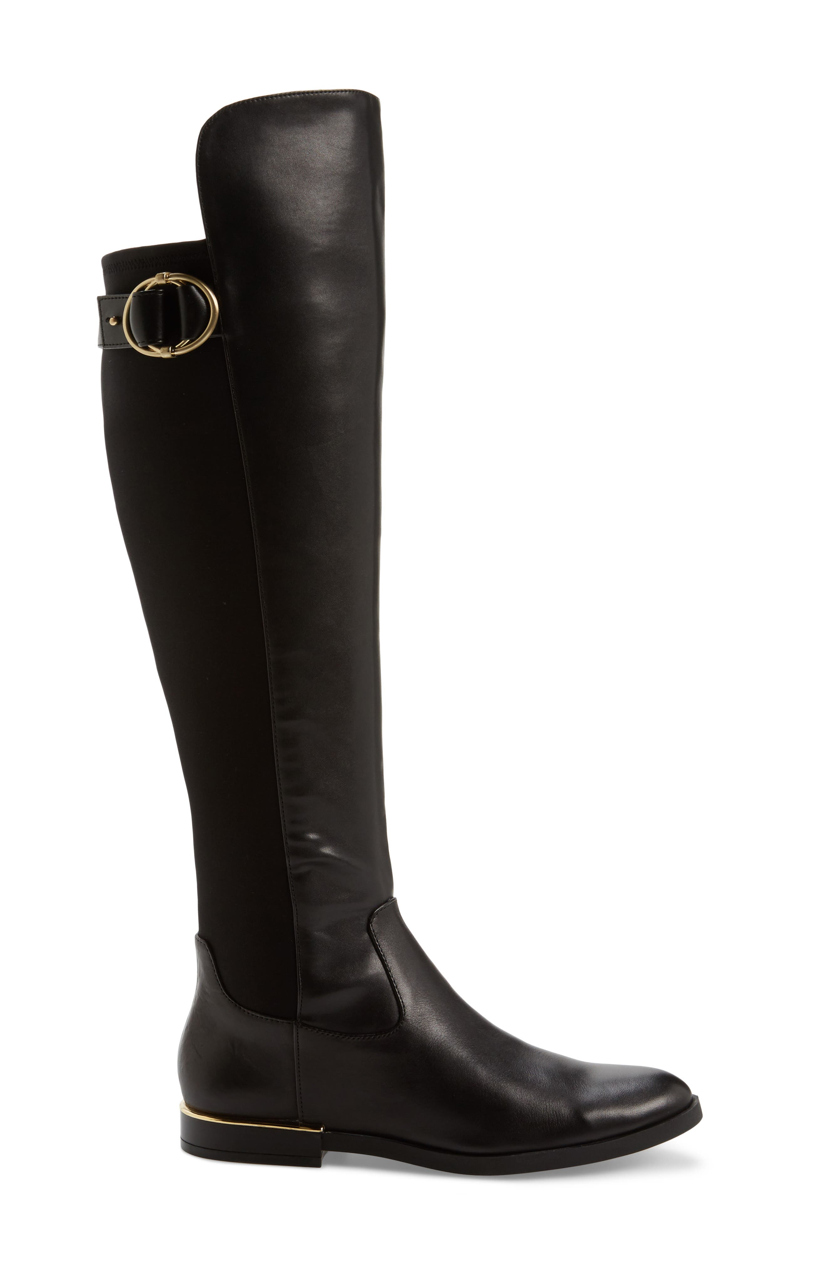 Priscila Over the Knee Boot,                             Alternate thumbnail 3, color,                             Black Leather