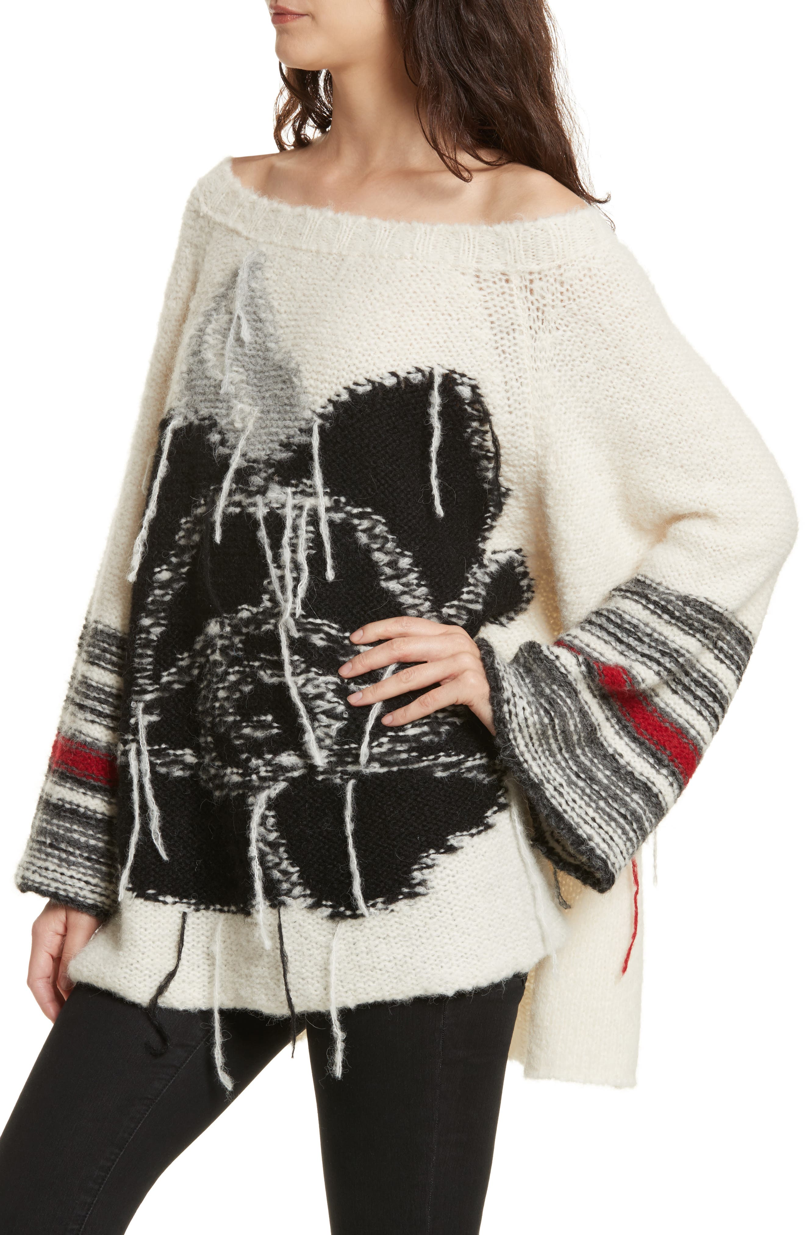 Last Rose Sweater,                             Alternate thumbnail 4, color,                             Ivory