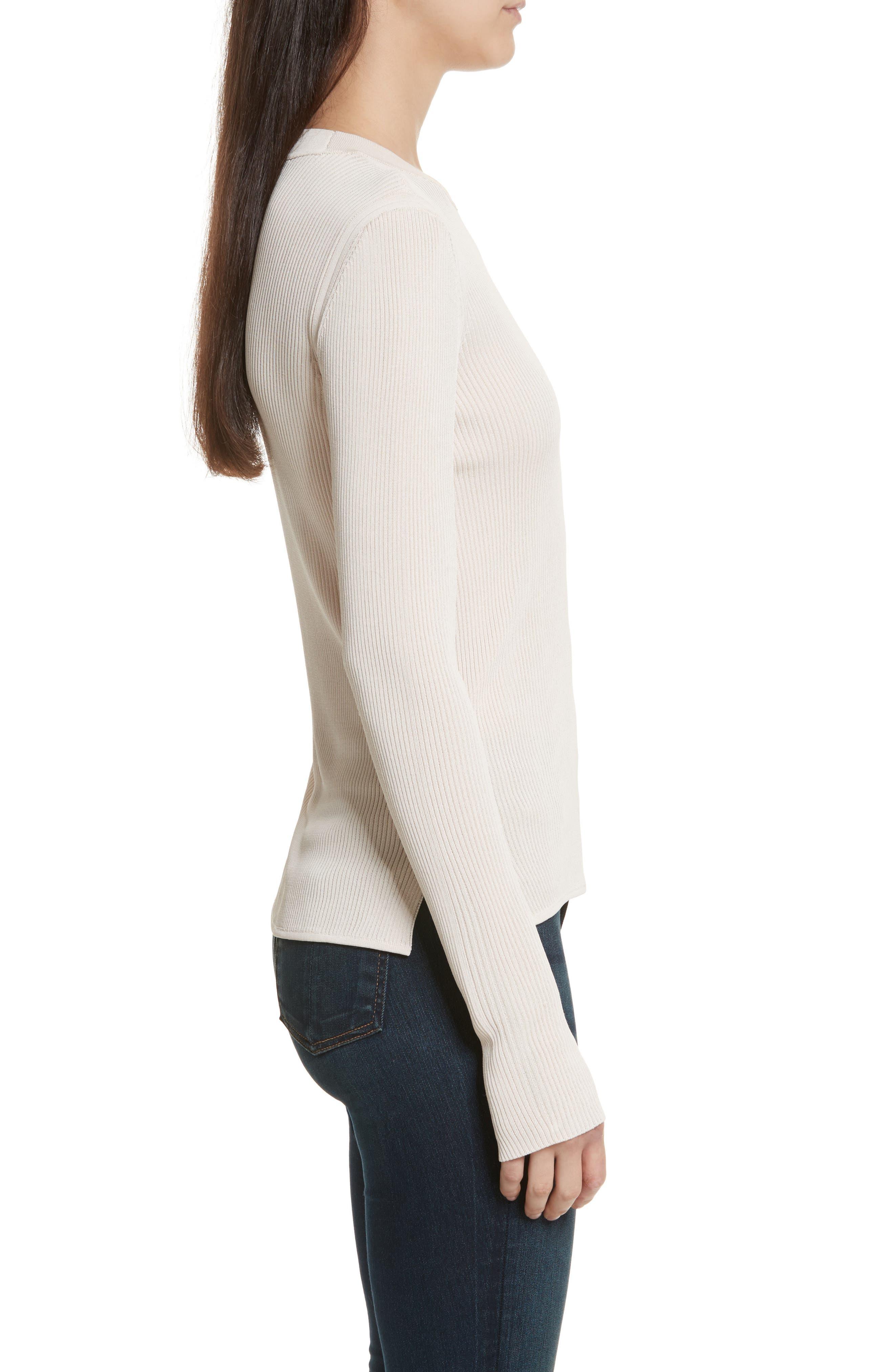 Sylvia Split Cuff Sweater,                             Alternate thumbnail 3, color,                             Pink