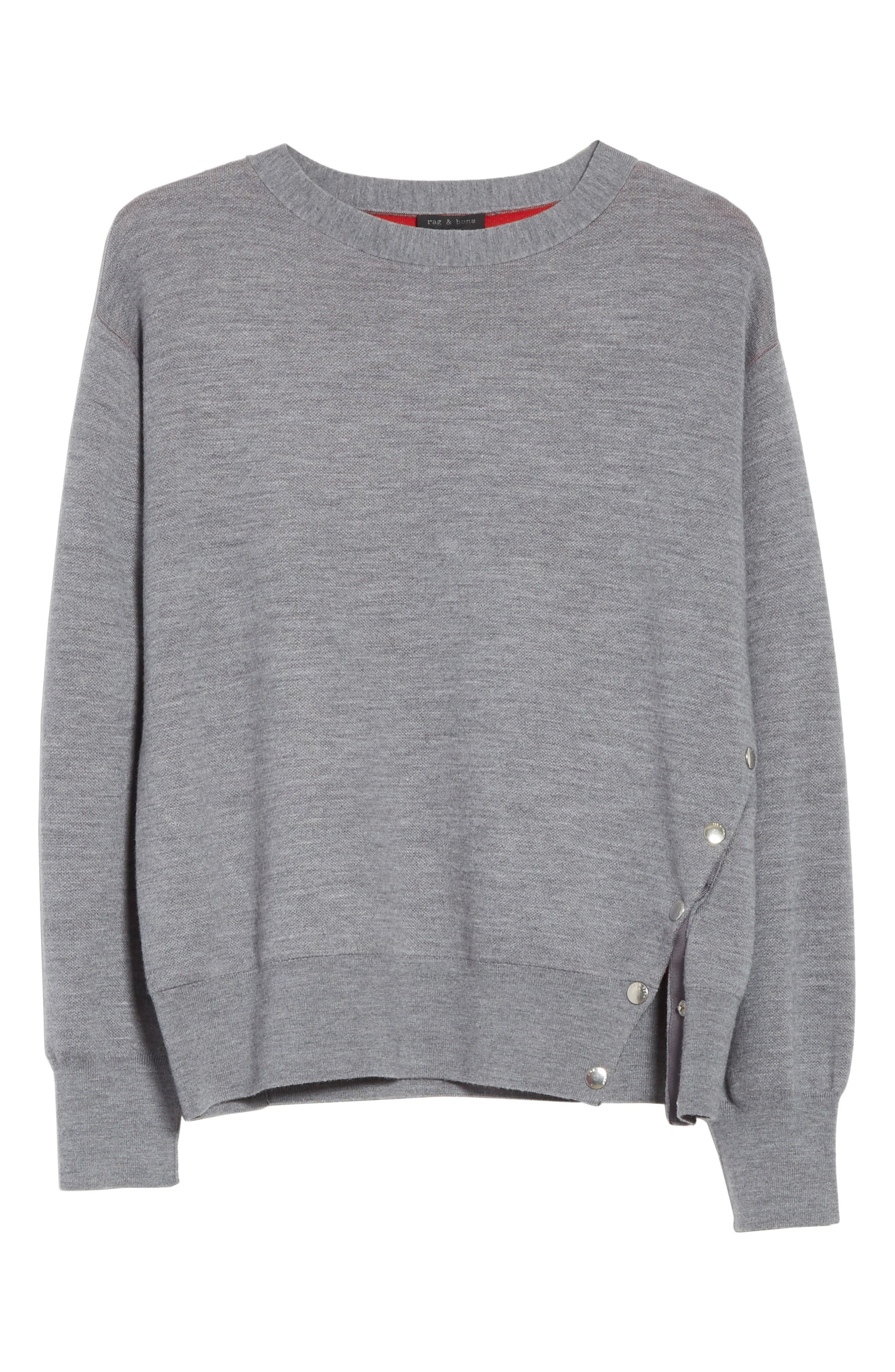 Alternate Image 7  - rag & bone Saralyn Merino Wool & Cotton Blend Crewneck Sweater