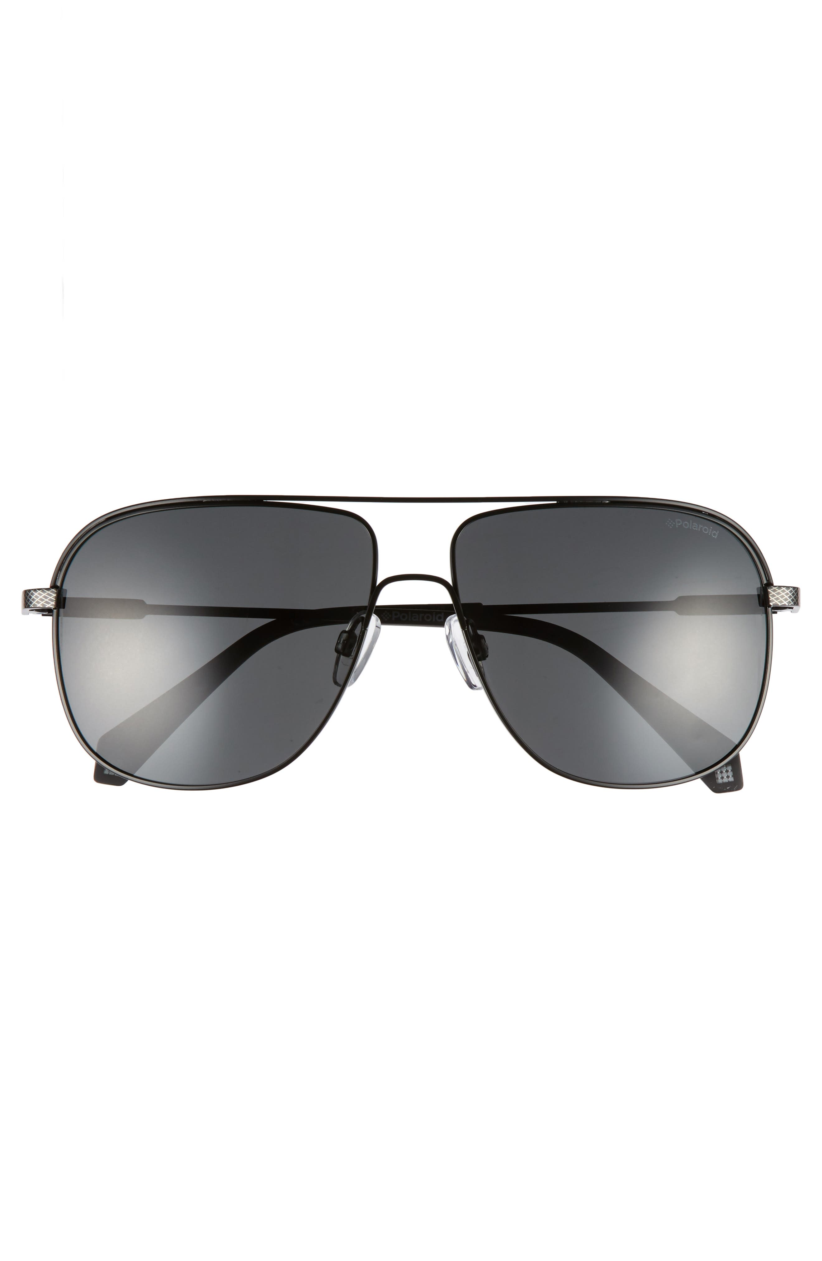 Polaroid 2055S 59mm Polarized Sunglasses,                             Alternate thumbnail 2, color,                             Matte Black