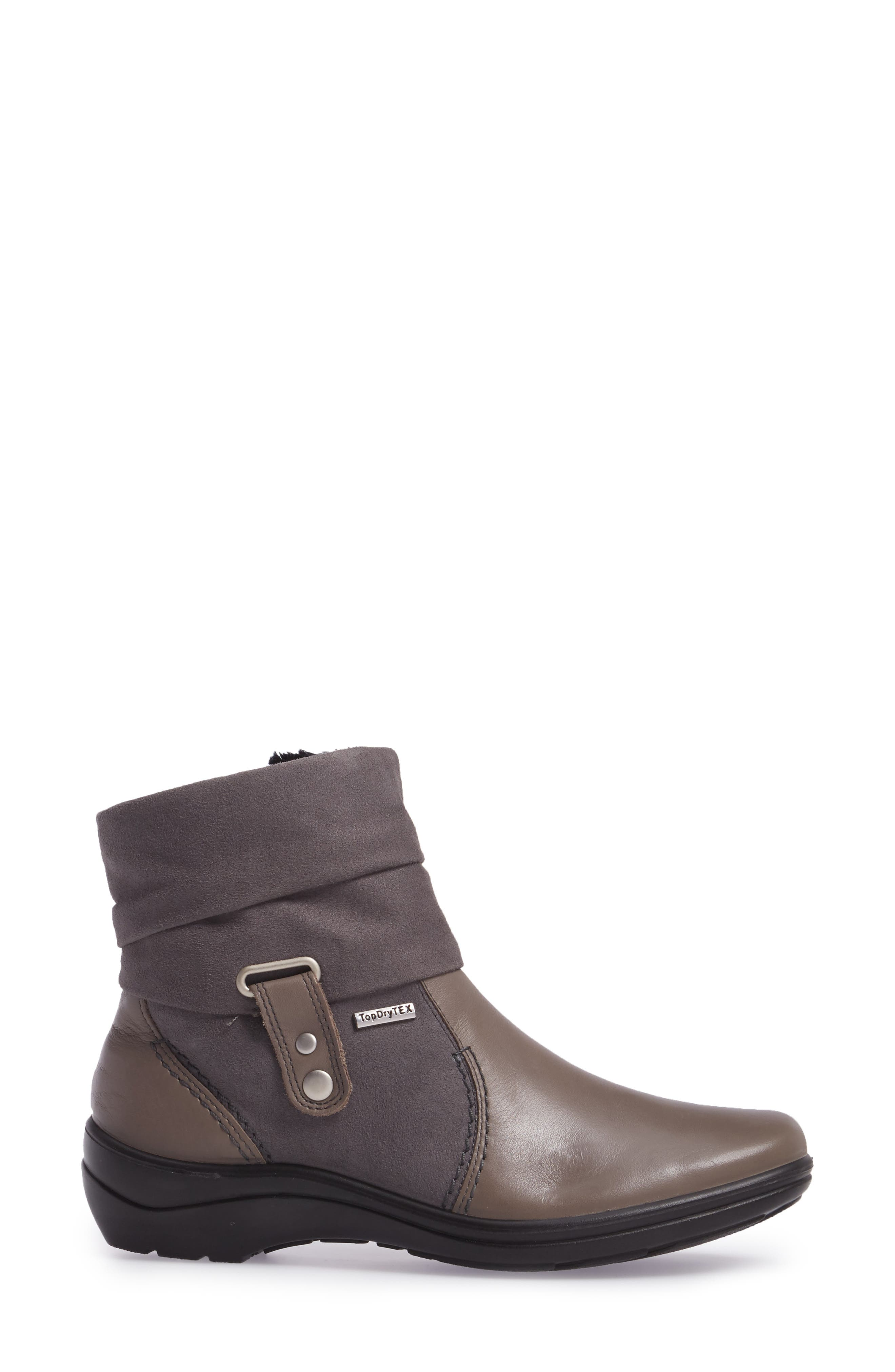 'Cassie 12' Boot,                             Alternate thumbnail 3, color,                             Grey Leather