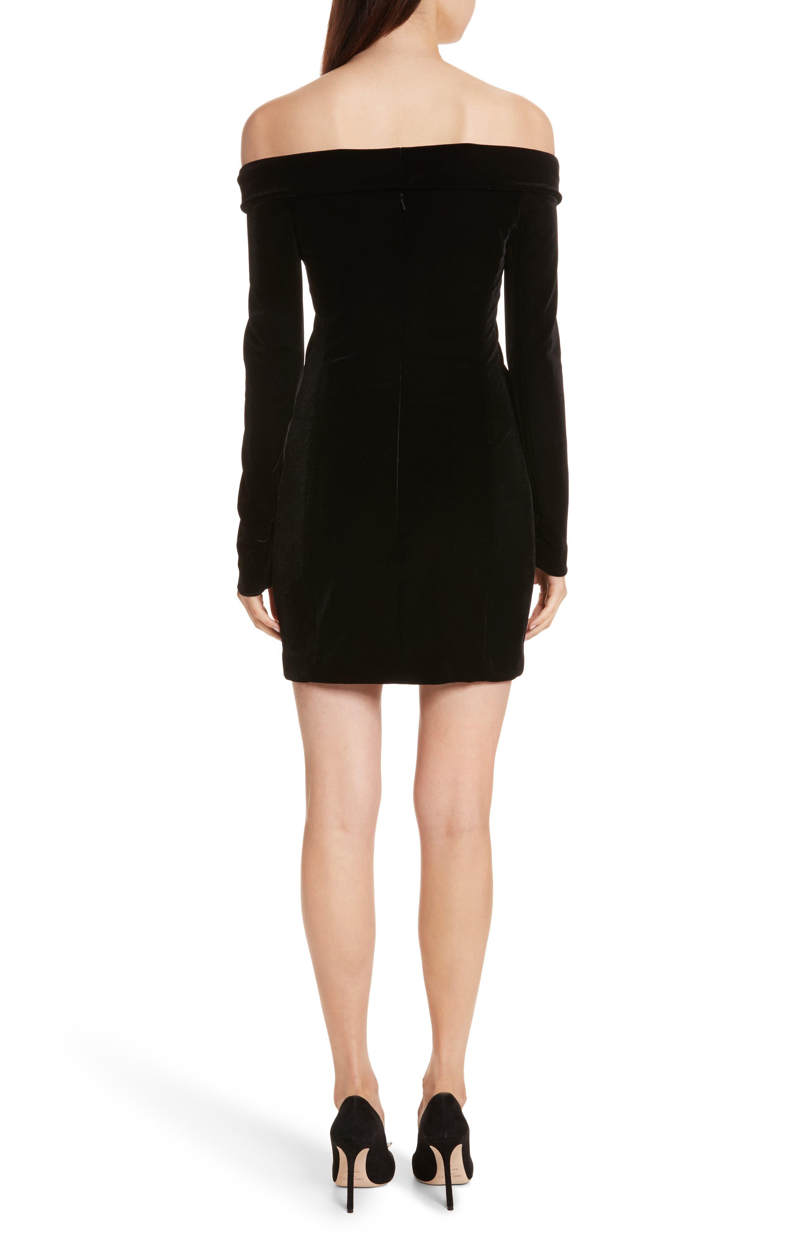 Velvet Jacket Dress,                             Alternate thumbnail 2, color,                             Black