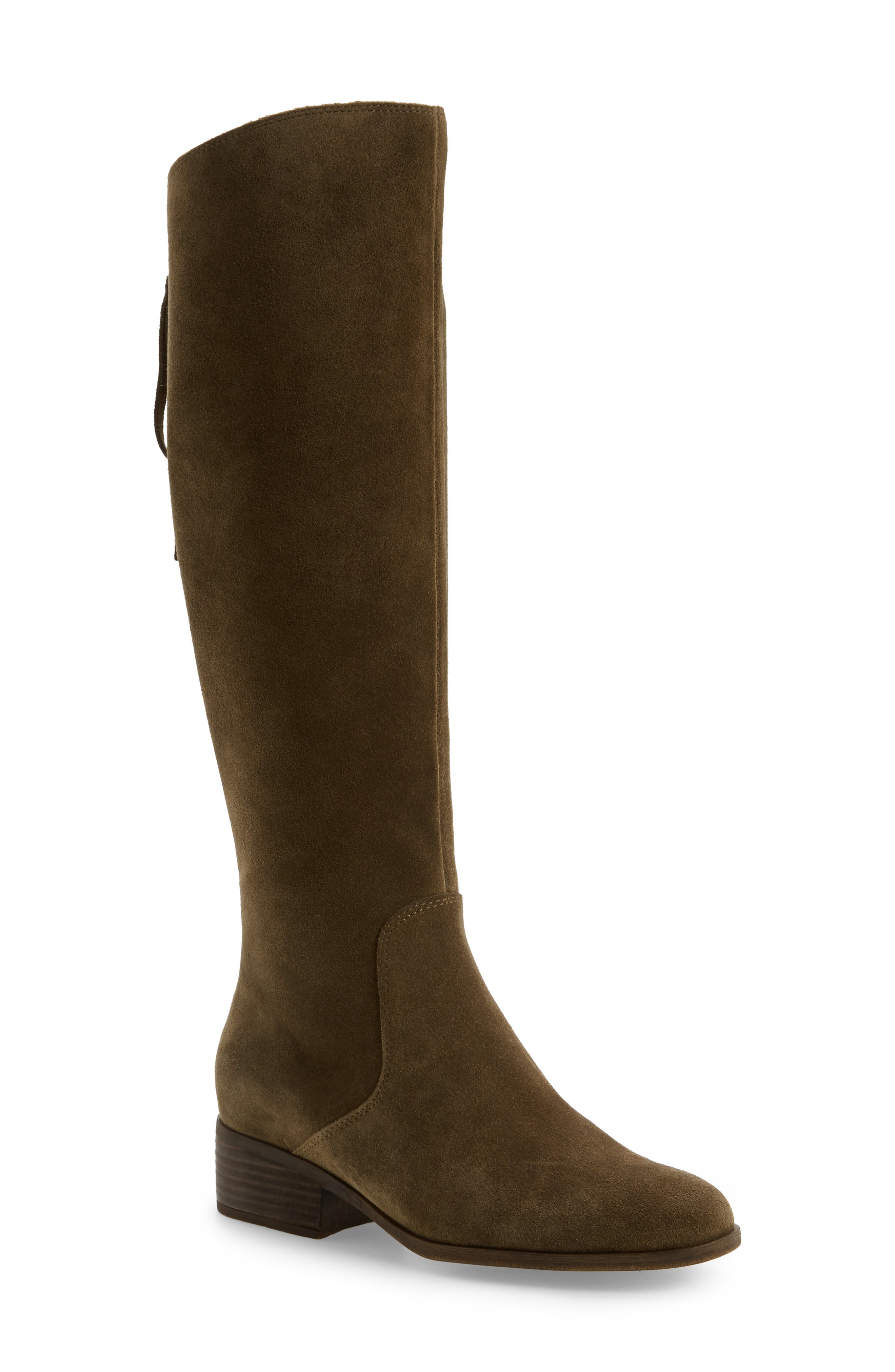 38694651ddf Lucky Brand Lanesha Over The Knee Boot In Ivy Green Suede ...