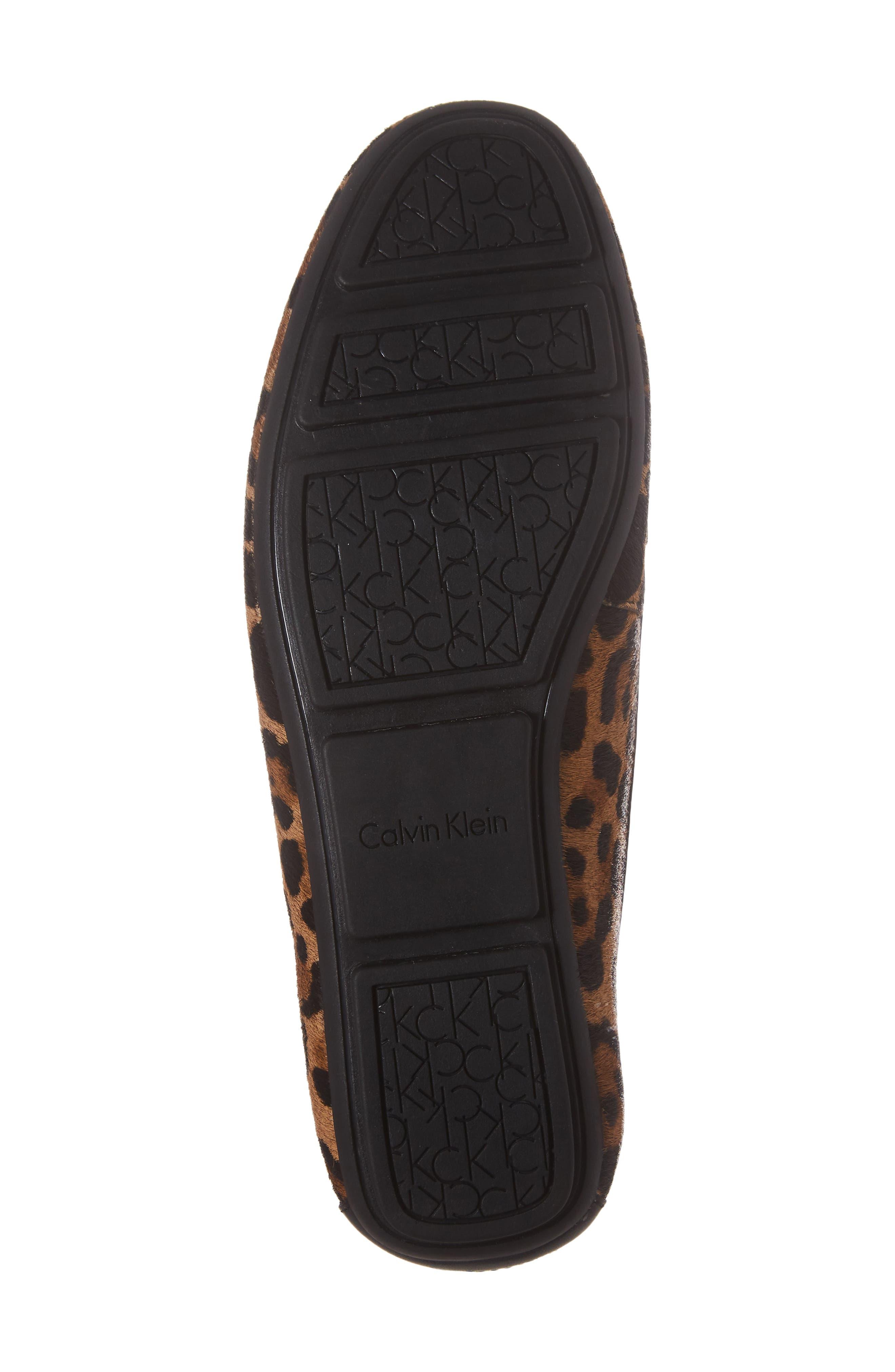 Lisette Loafer,                             Alternate thumbnail 6, color,                             Natural Leopard Hair Calf
