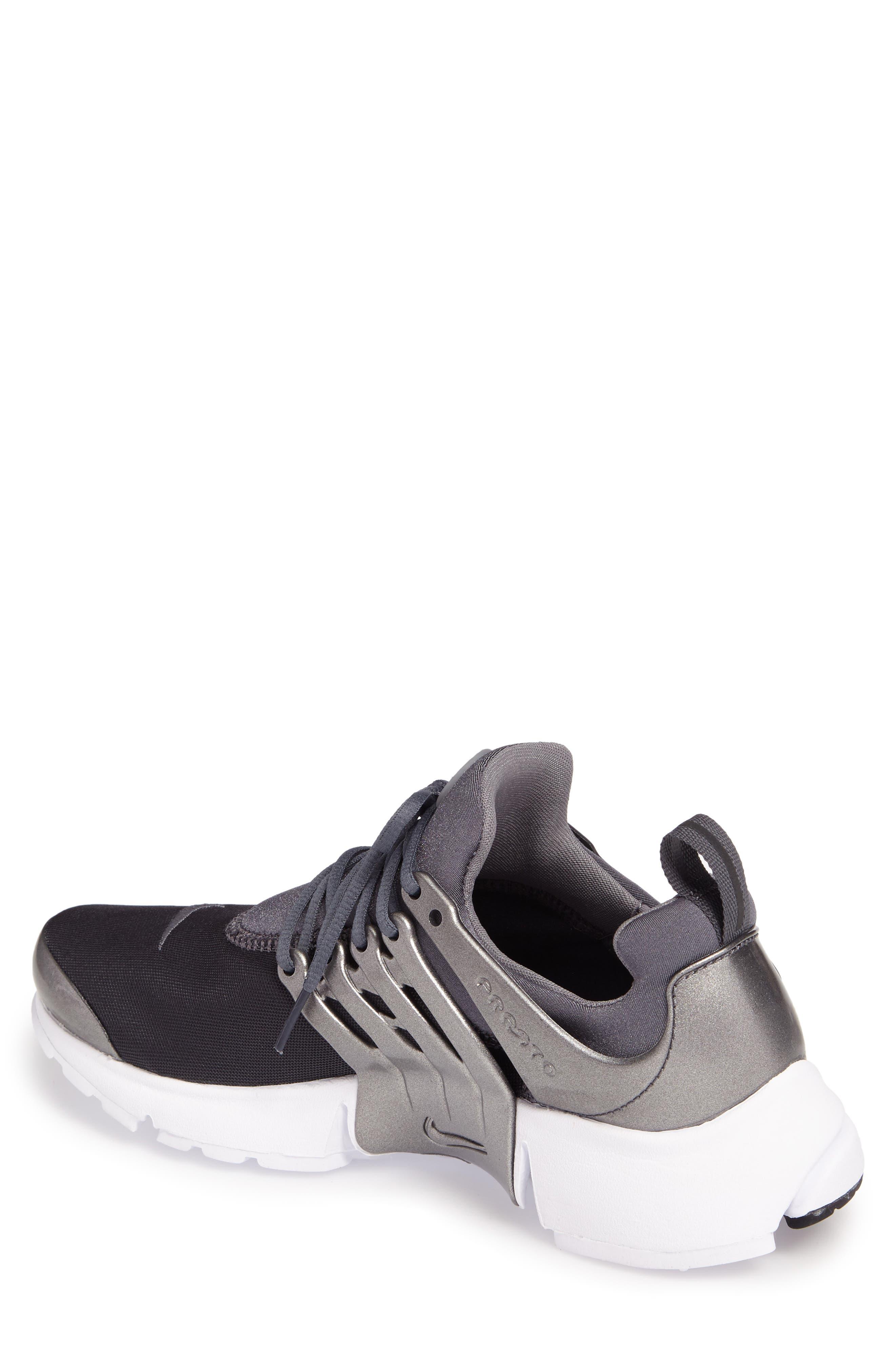 Air Presto Premium Sneaker,                             Alternate thumbnail 2, color,                             Metallic Hematite/ Cool Grey