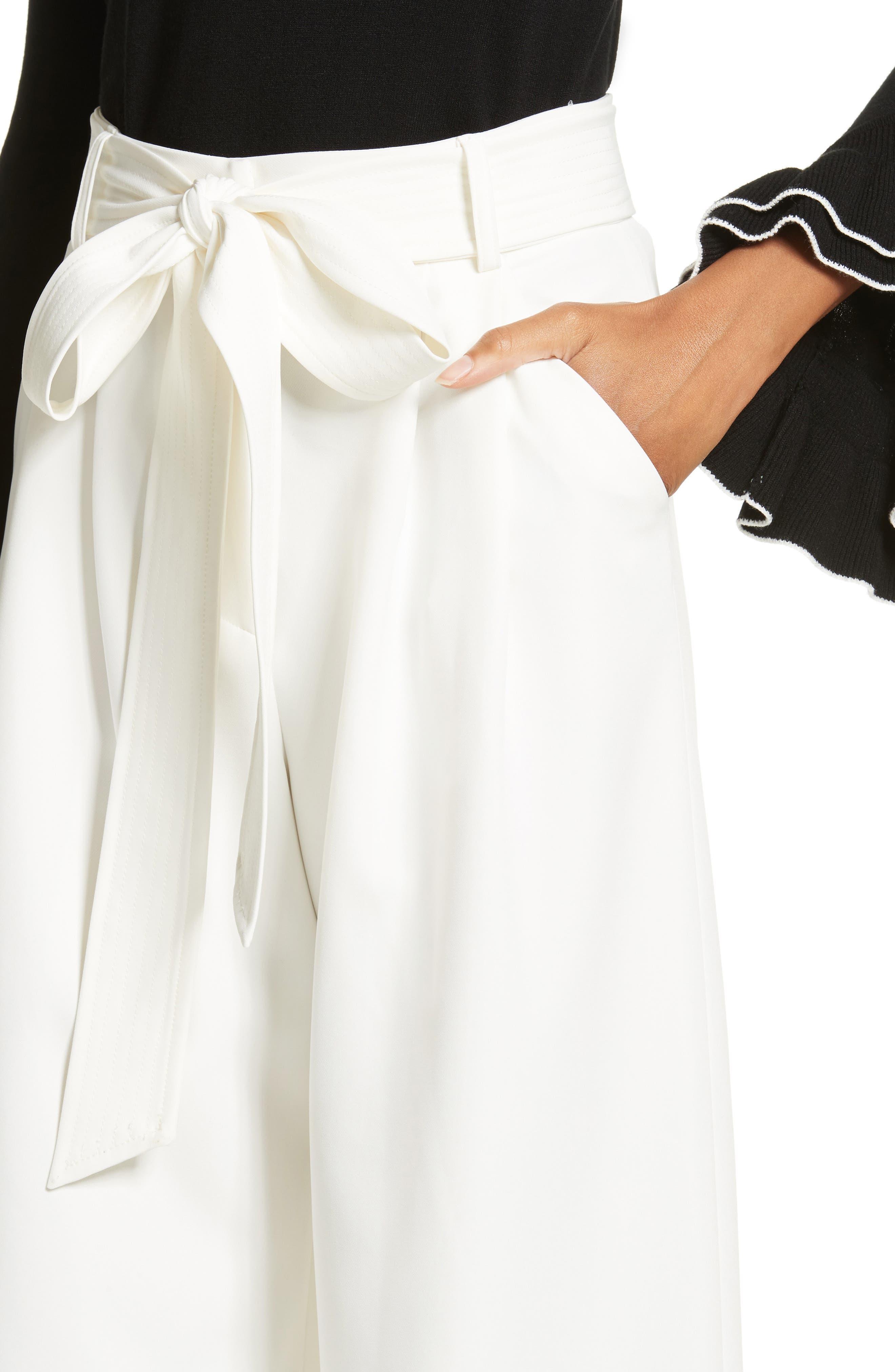 Alternate Image 4  - Milly Italian Cady Trapunto Tie Waist Trousers