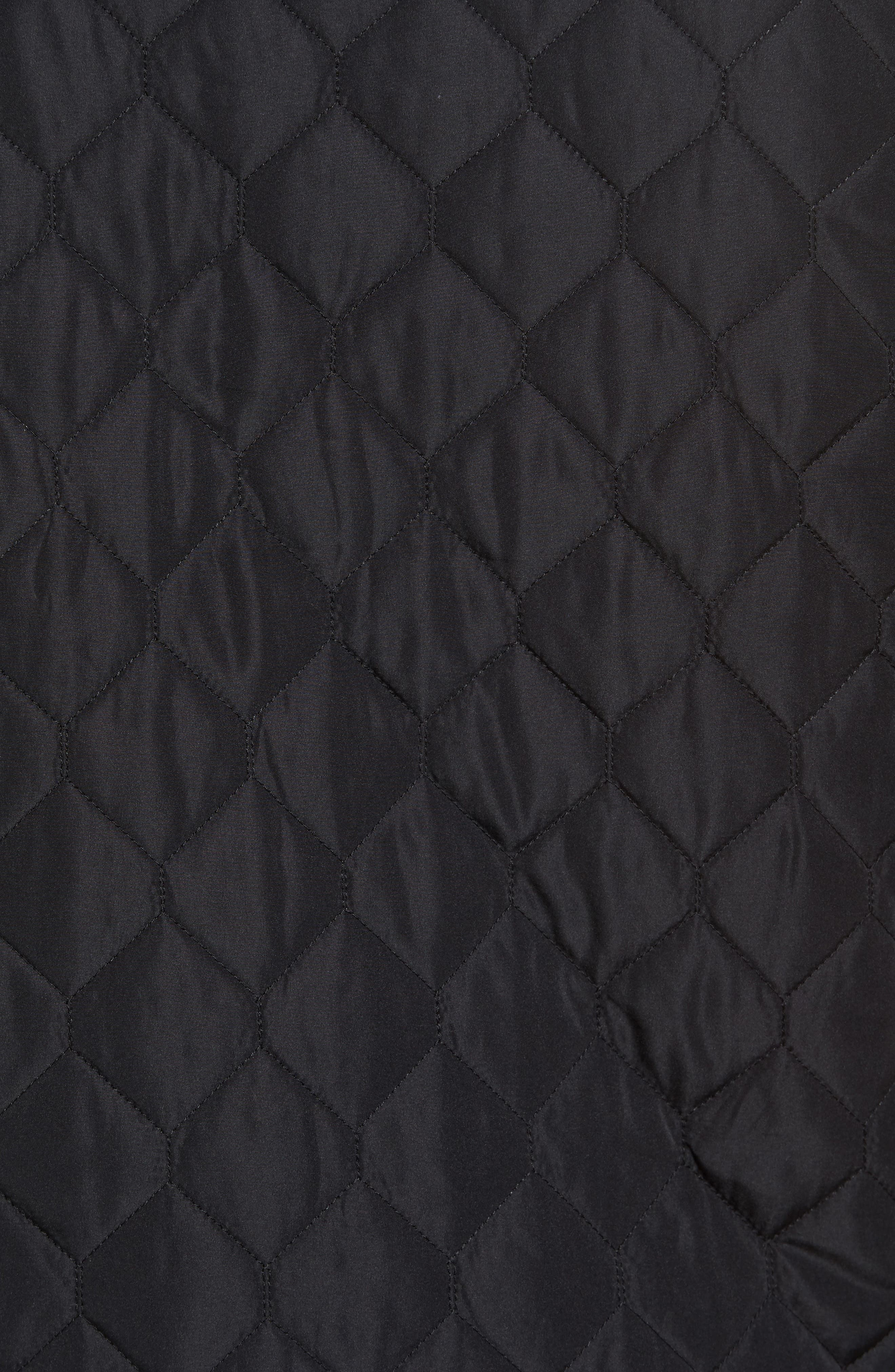 Replicant Quilted Vest,                             Alternate thumbnail 5, color,                             Black