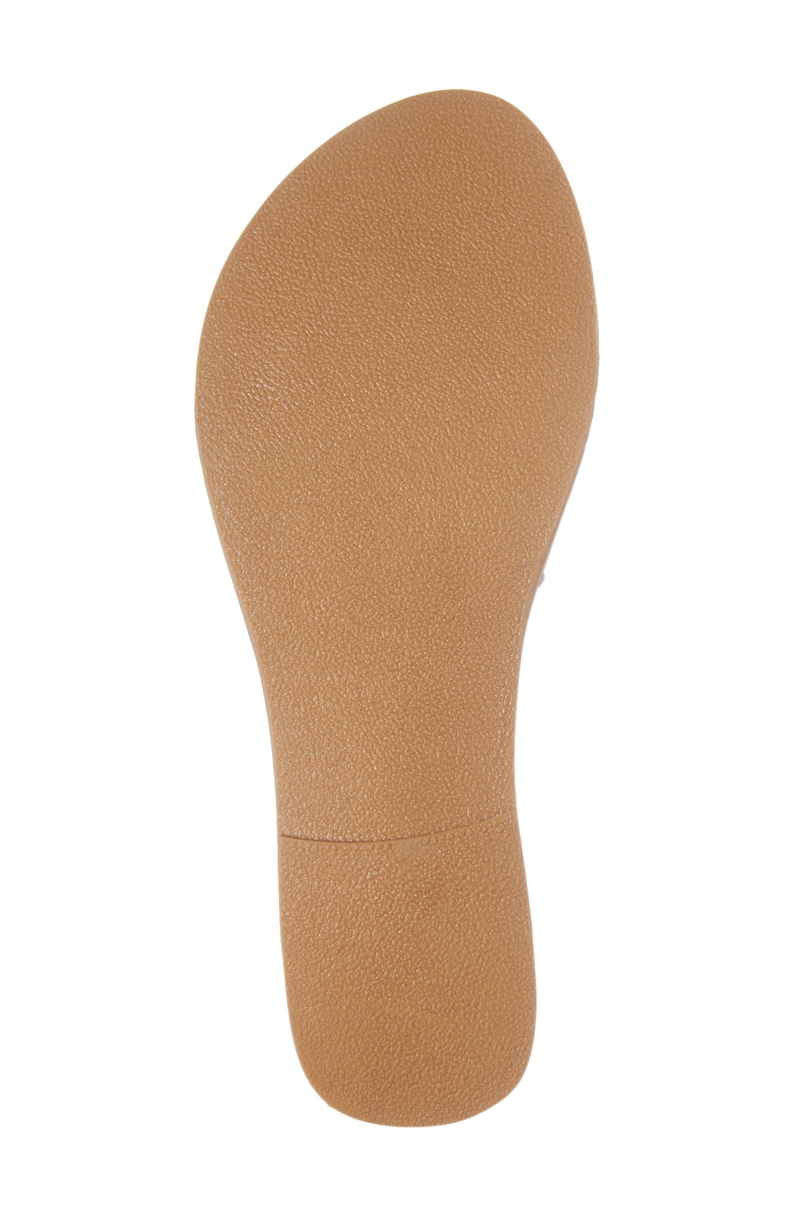 Cabana Slide Sandal,                             Alternate thumbnail 6, color,                             Ice Leather