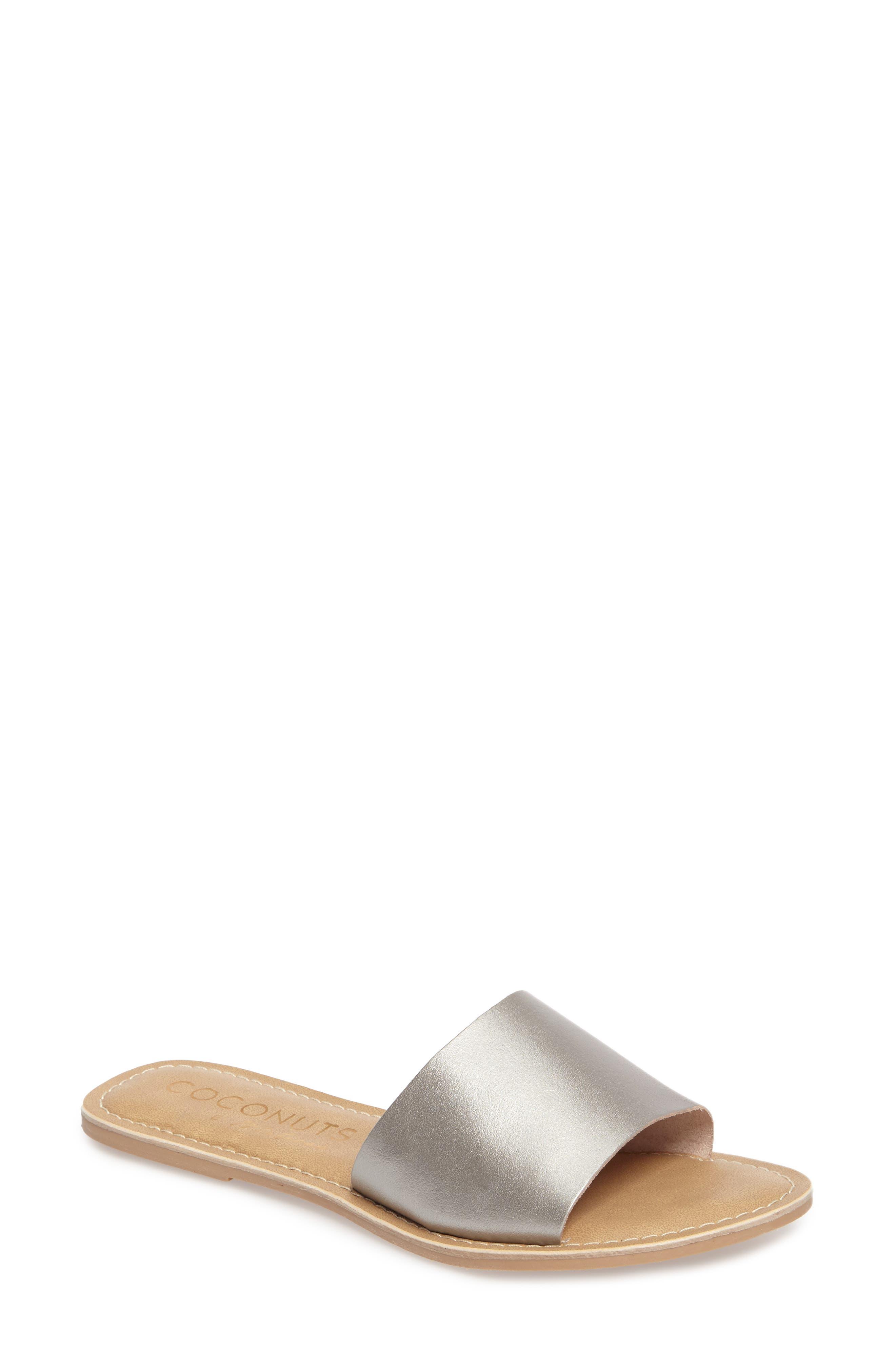 Cabana Slide Sandal,                         Main,                         color, Ice Leather