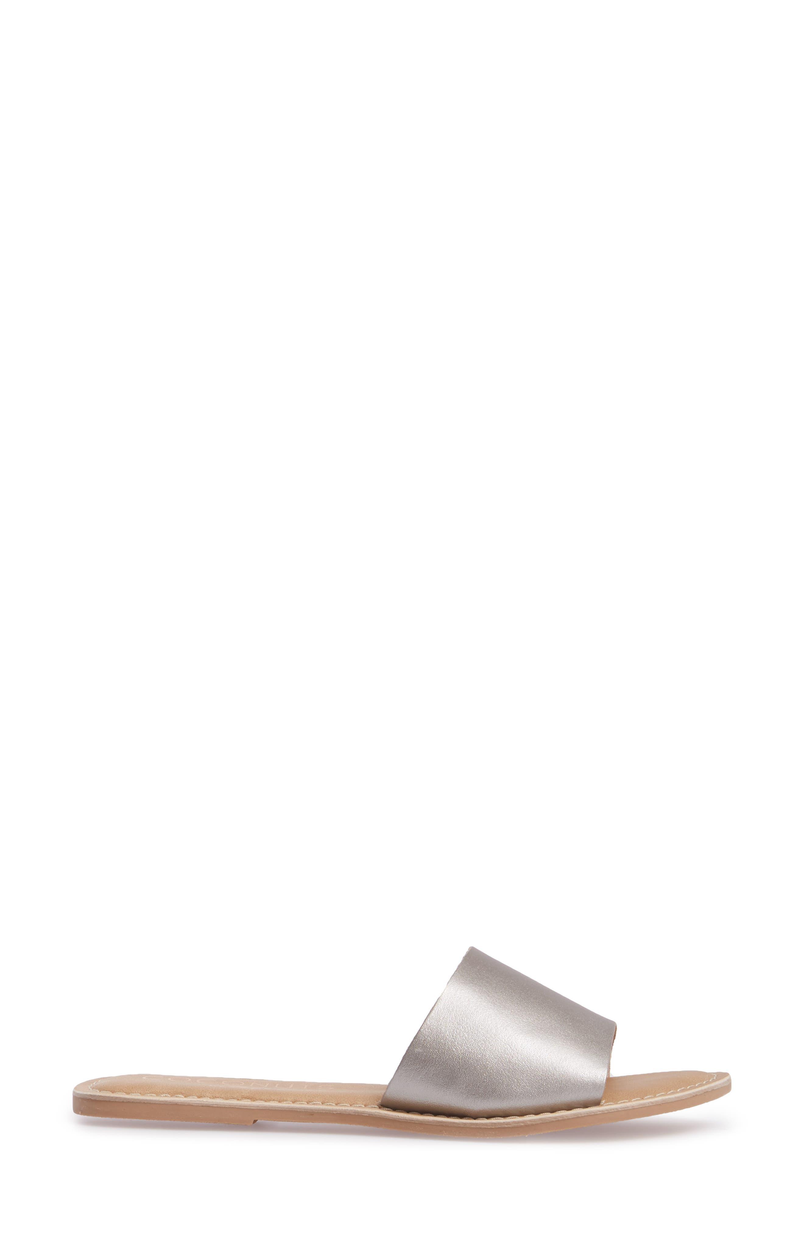 Cabana Slide Sandal,                             Alternate thumbnail 3, color,                             Ice Leather