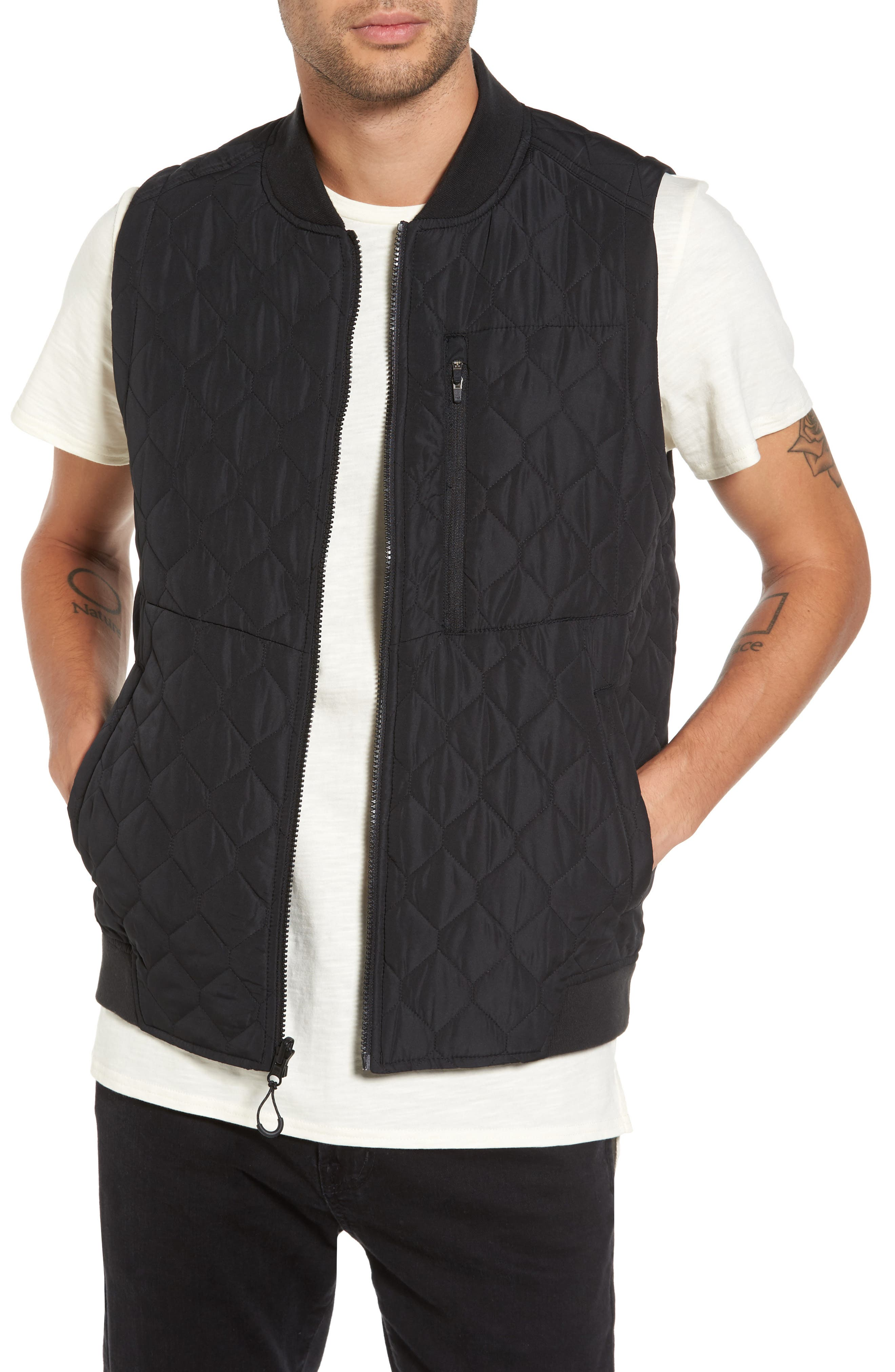 Replicant Quilted Vest,                         Main,                         color, Black