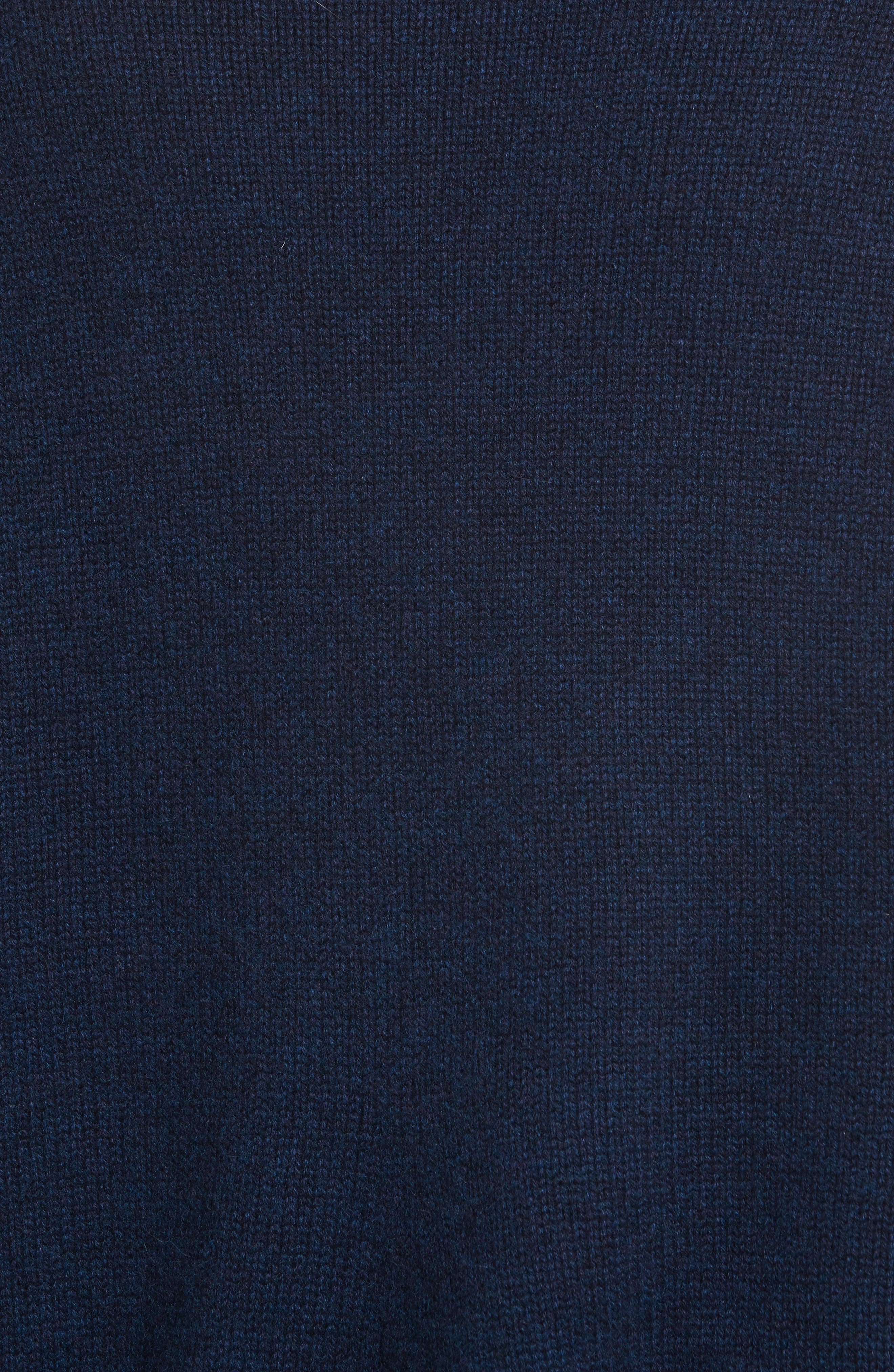 Sculpted Sleeve High/Low Cashmere Sweater,                             Alternate thumbnail 5, color,                             Navy