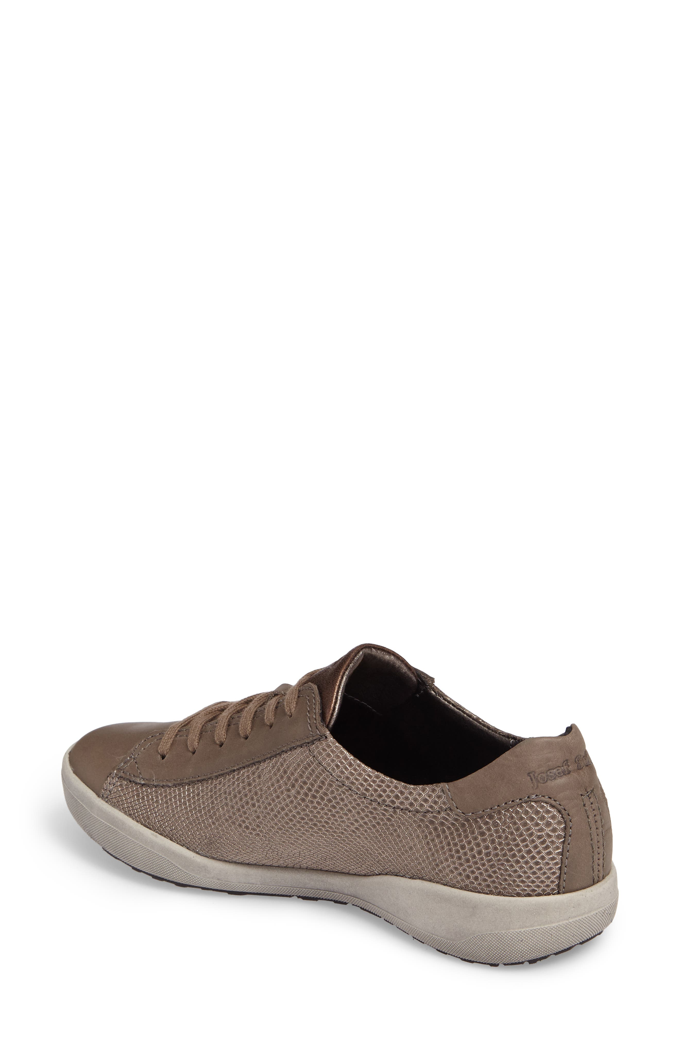 Sina 27 Sneaker,                             Alternate thumbnail 2, color,                             Asphalt/ Kombi Leather