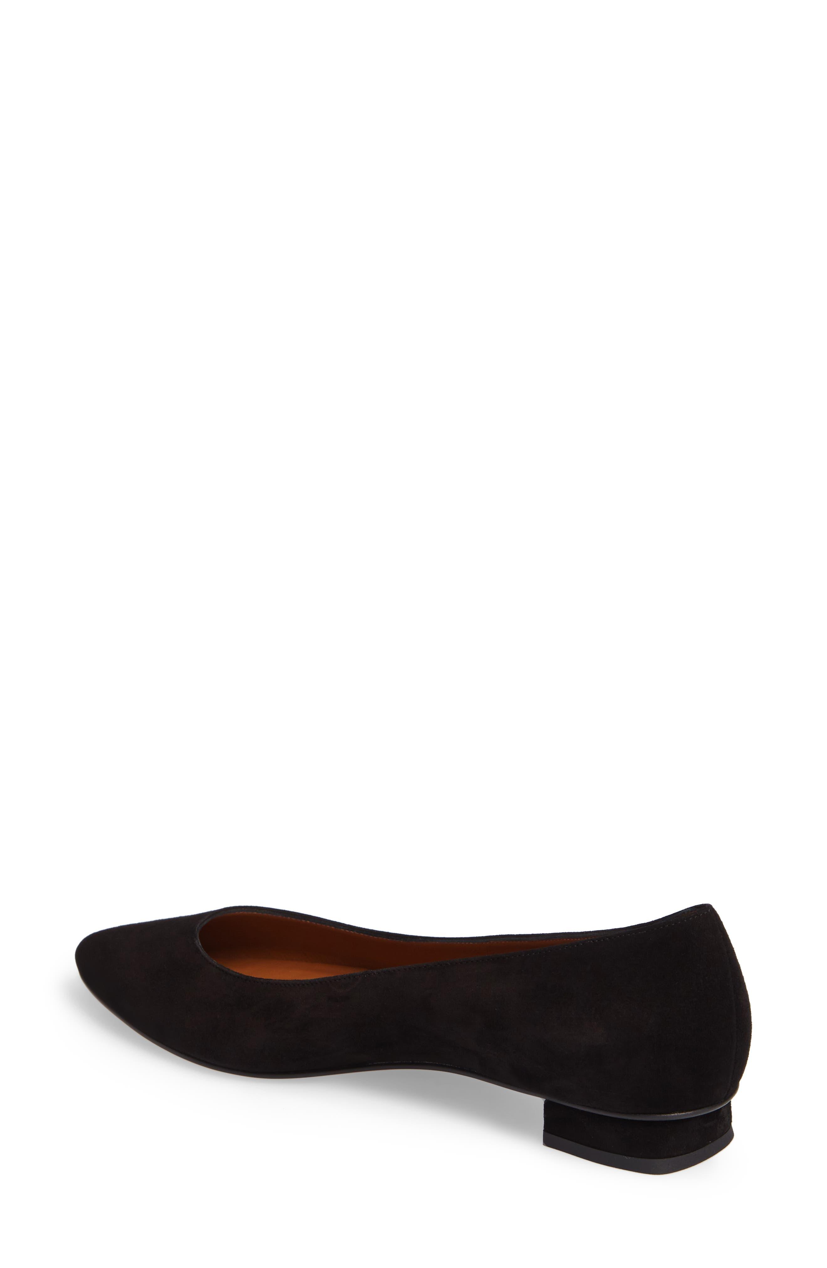 Perla Weatherproof Ballerina Shoe,                             Alternate thumbnail 2, color,                             Black Suede