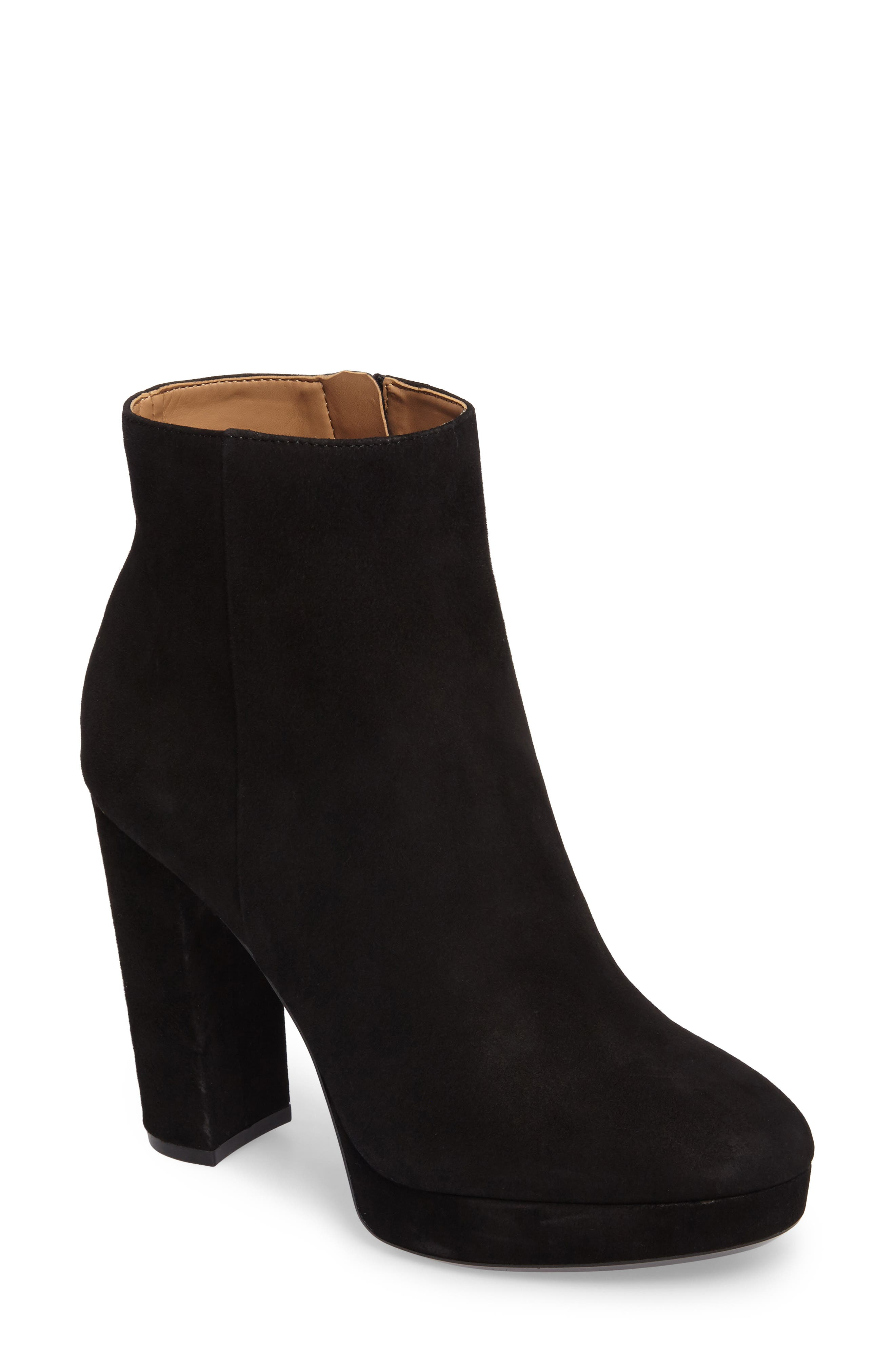 Martha Bootie,                             Main thumbnail 1, color,                             Black Suede