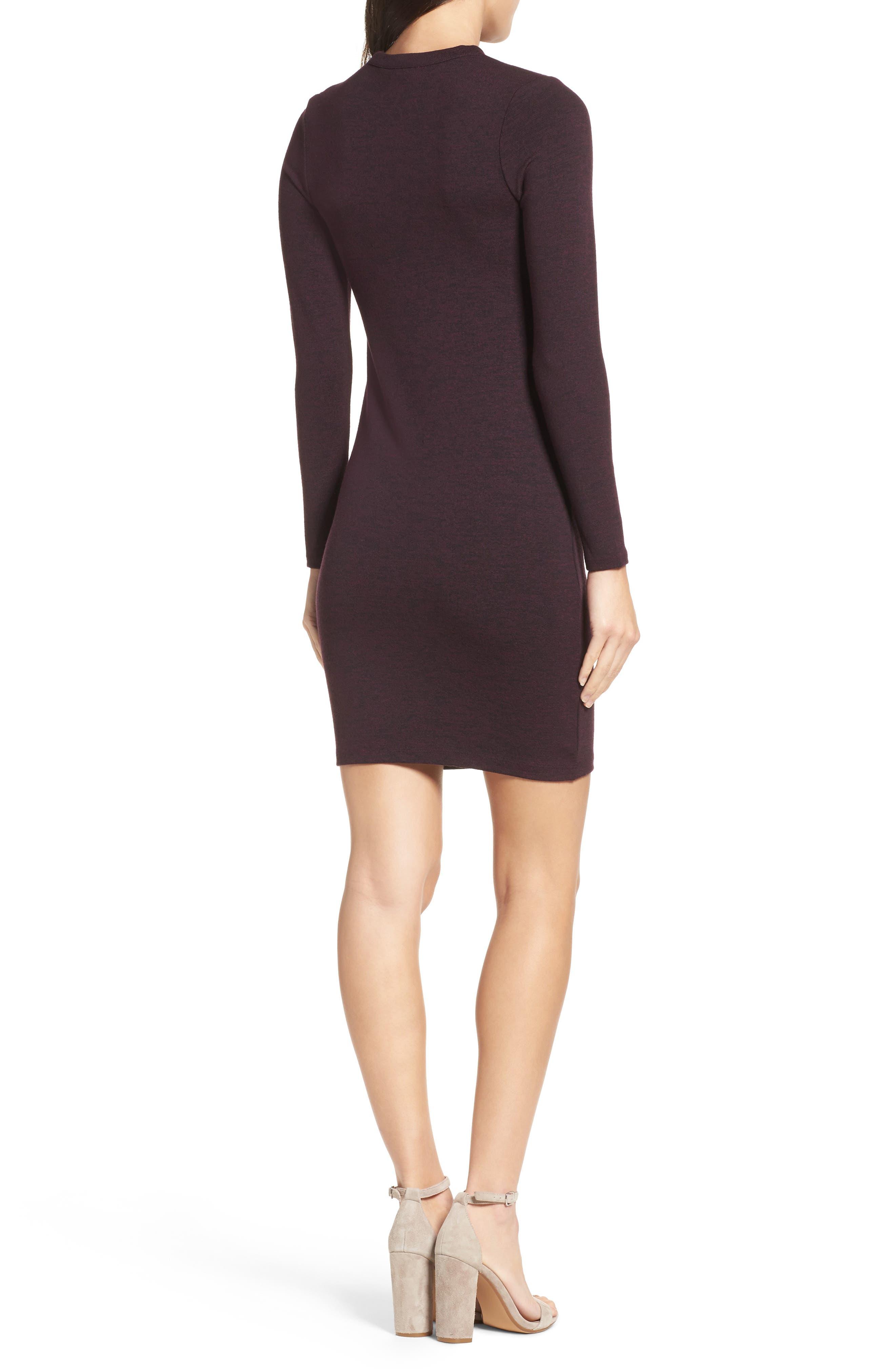 Sweeter Sweater Dress,                             Alternate thumbnail 2, color,                             Deepest Purple