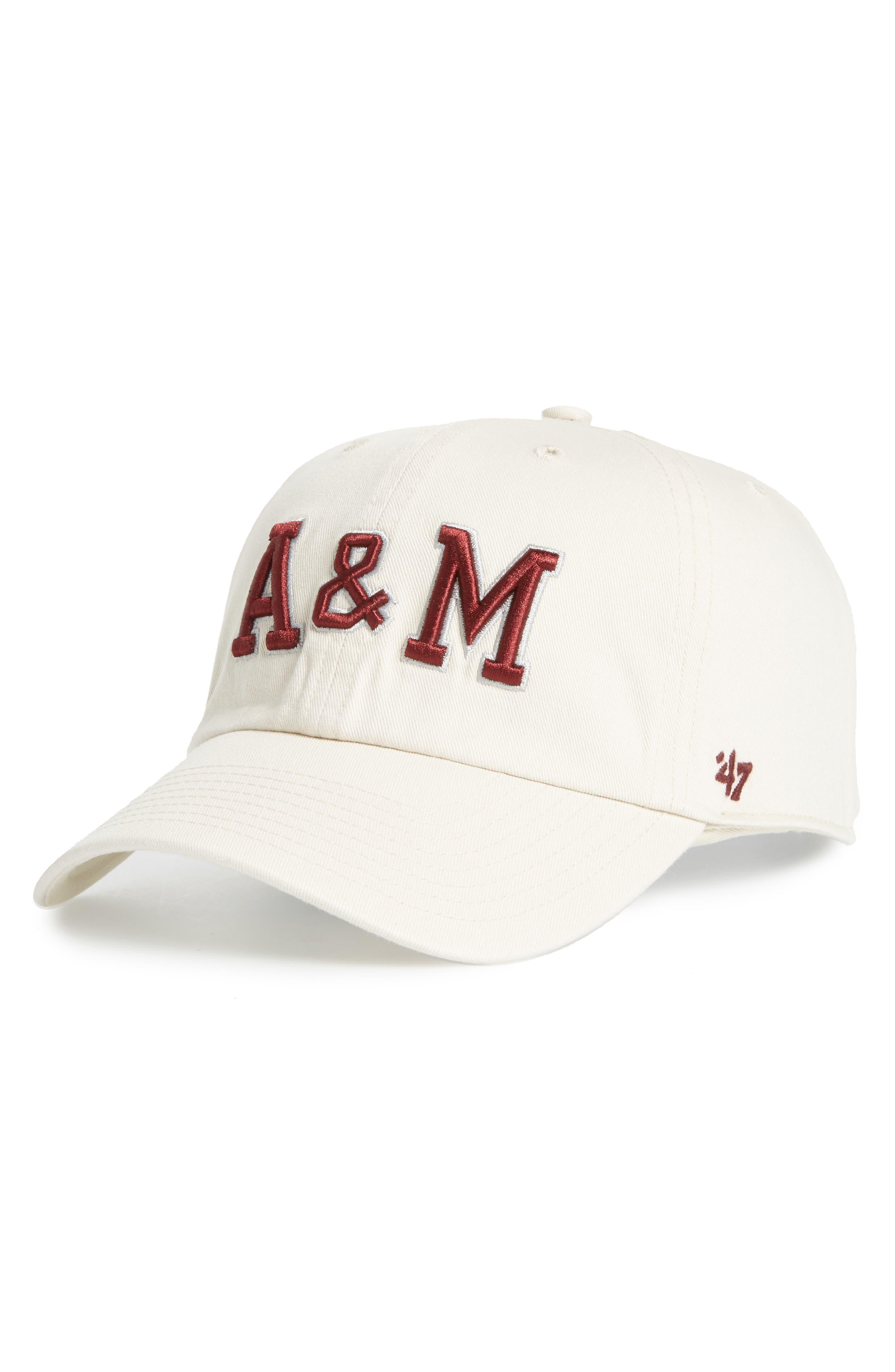 Texas A&M Clean Up Baseball Cap,                         Main,                         color, Natural