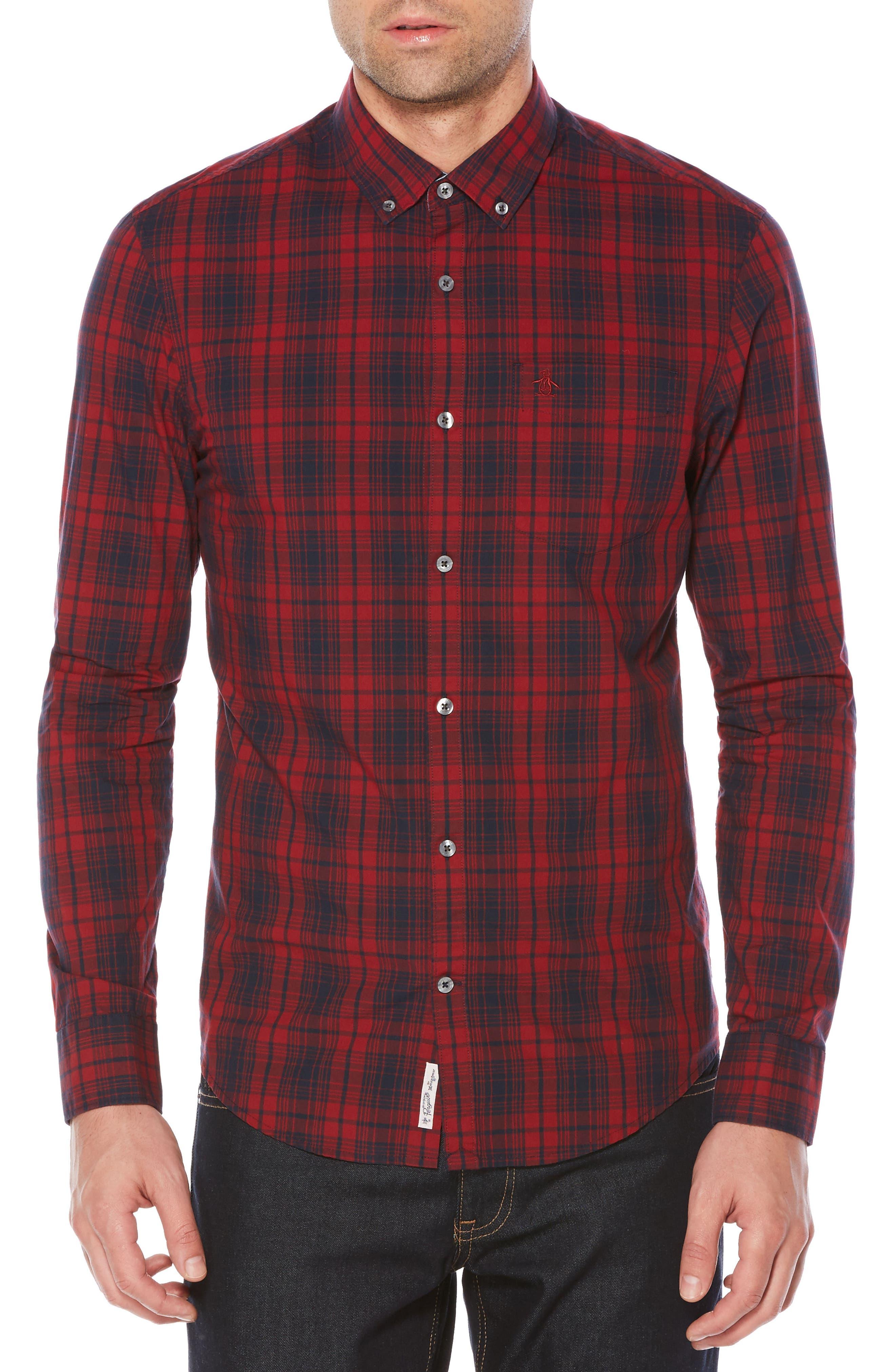 Alternate Image 1 Selected - Original Penguin Heritage Slim Fit Plaid Shirt