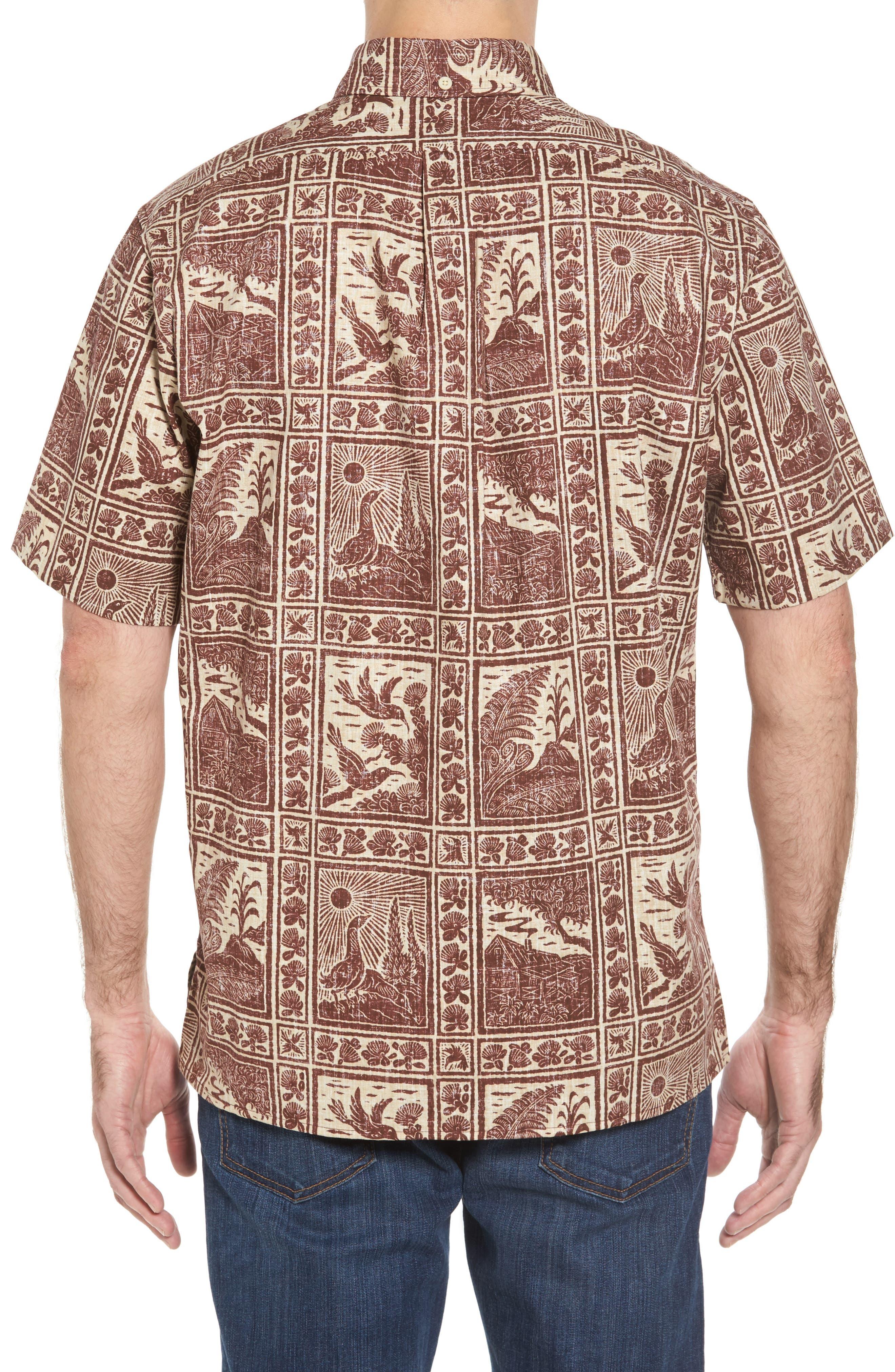 Alternate Image 2  - Reyn Spooner Volcano Park Classic Fit Sport Shirt