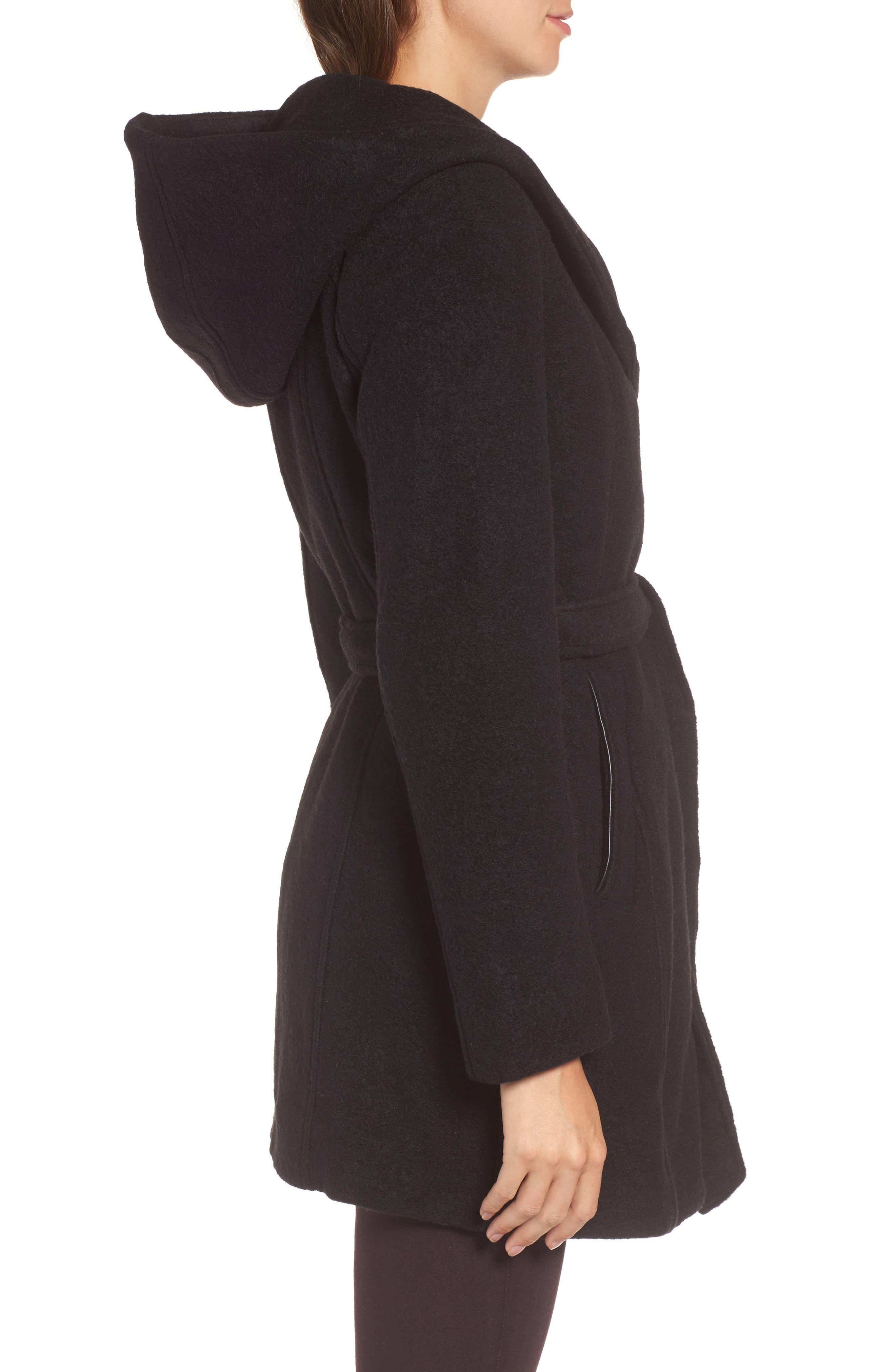 Alternate Image 3  - Andrew Marc Felted Wool Blend Coat