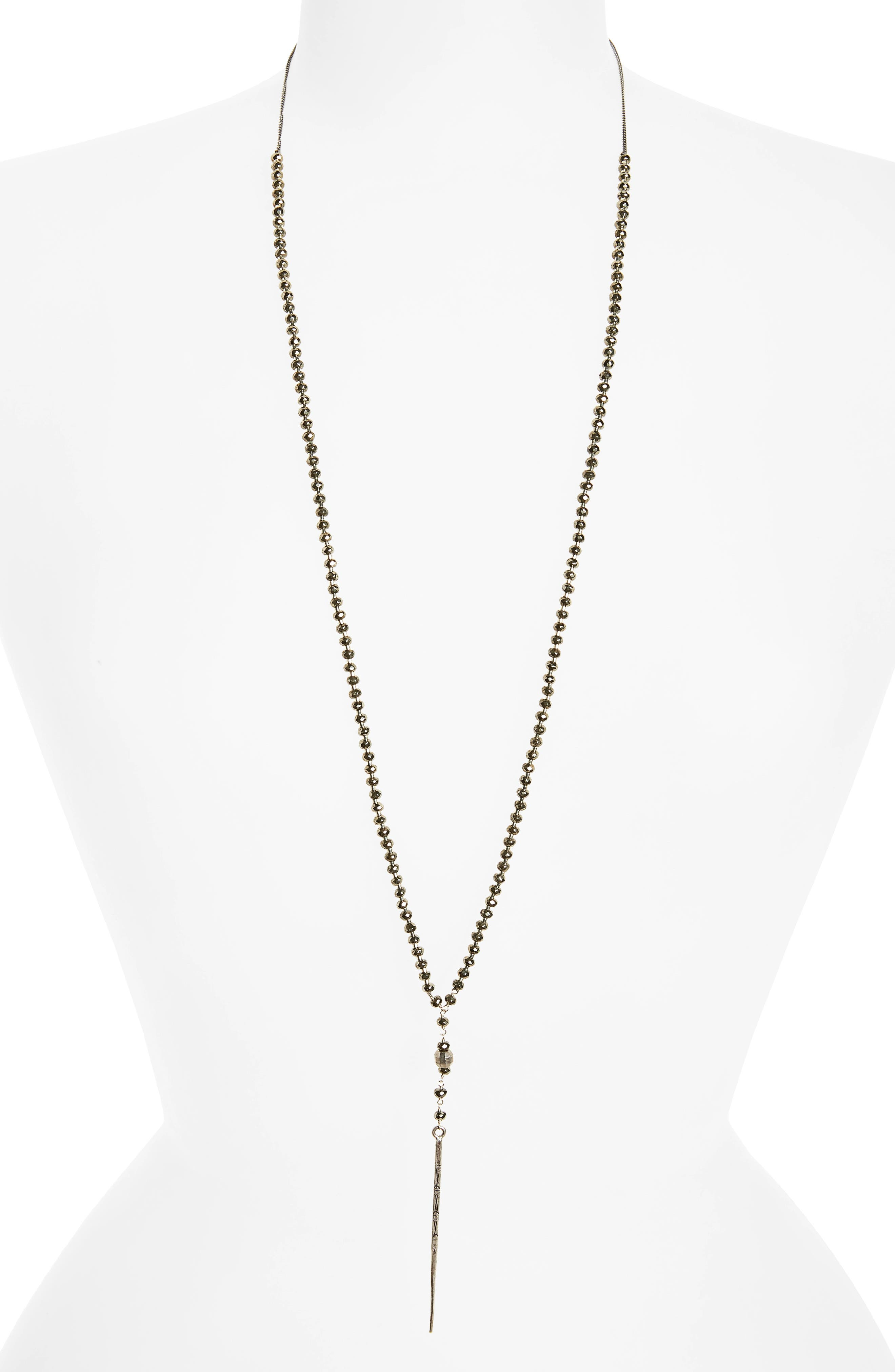 Main Image - Chan Luu Sterling Silver Dagger Pendant Y-Necklace