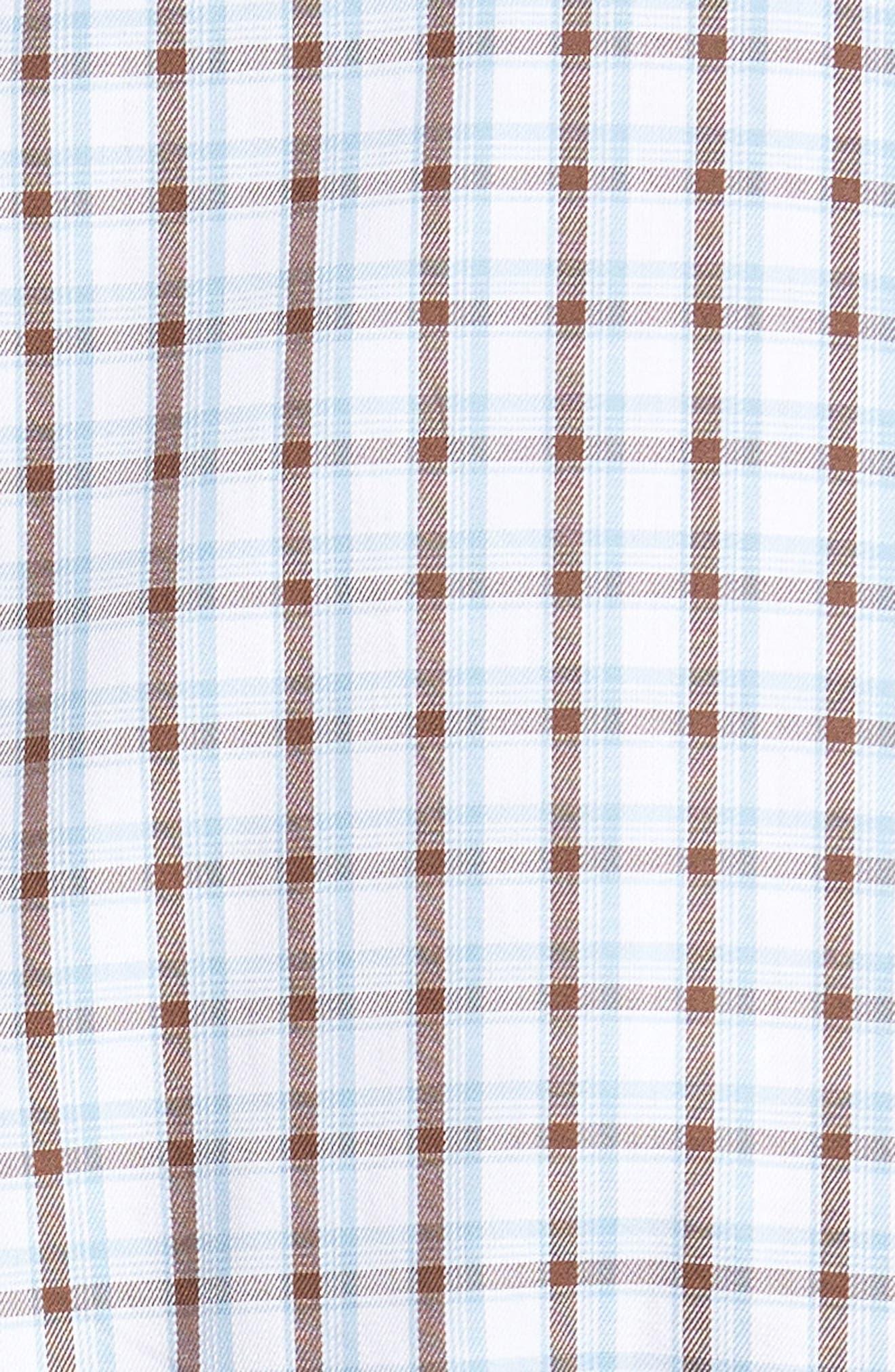 Regular Fit Crisp Pane Sport Shirt,                             Alternate thumbnail 5, color,                             Branch