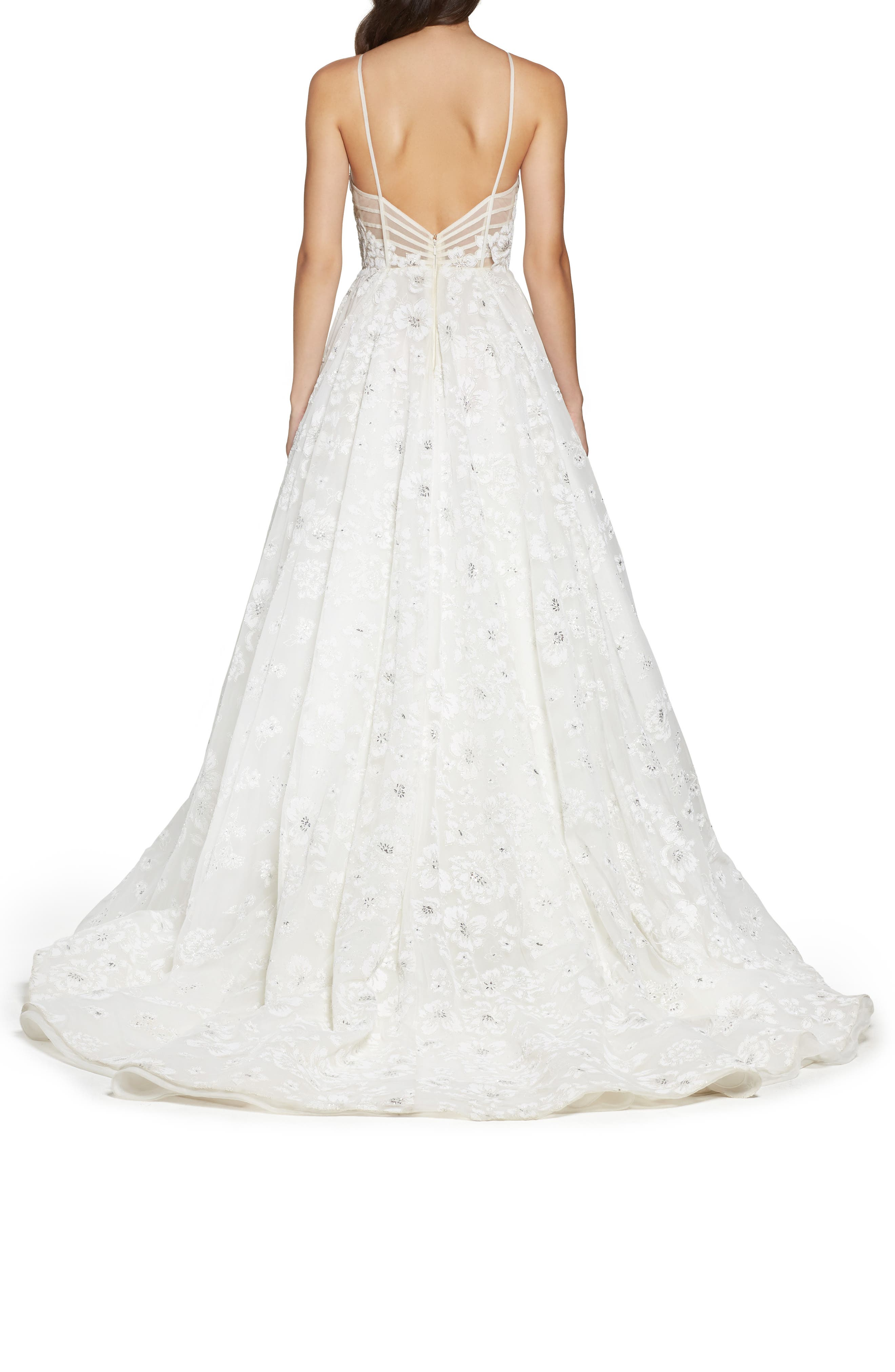Alternate Image 2  - Hayley Paige Reagan Floral Embroidered Layered Ballgown