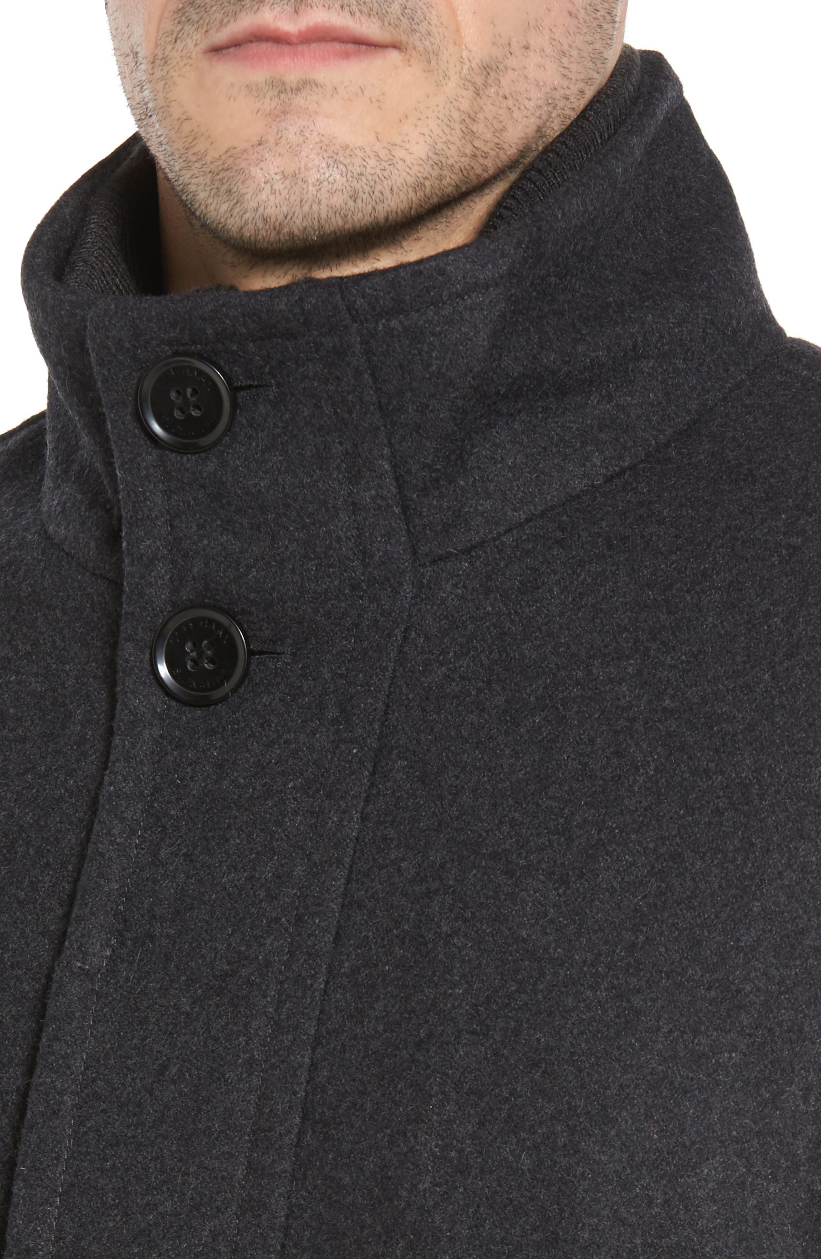 Alternate Image 3  - Cole Haan Melton Wool Blend Coat