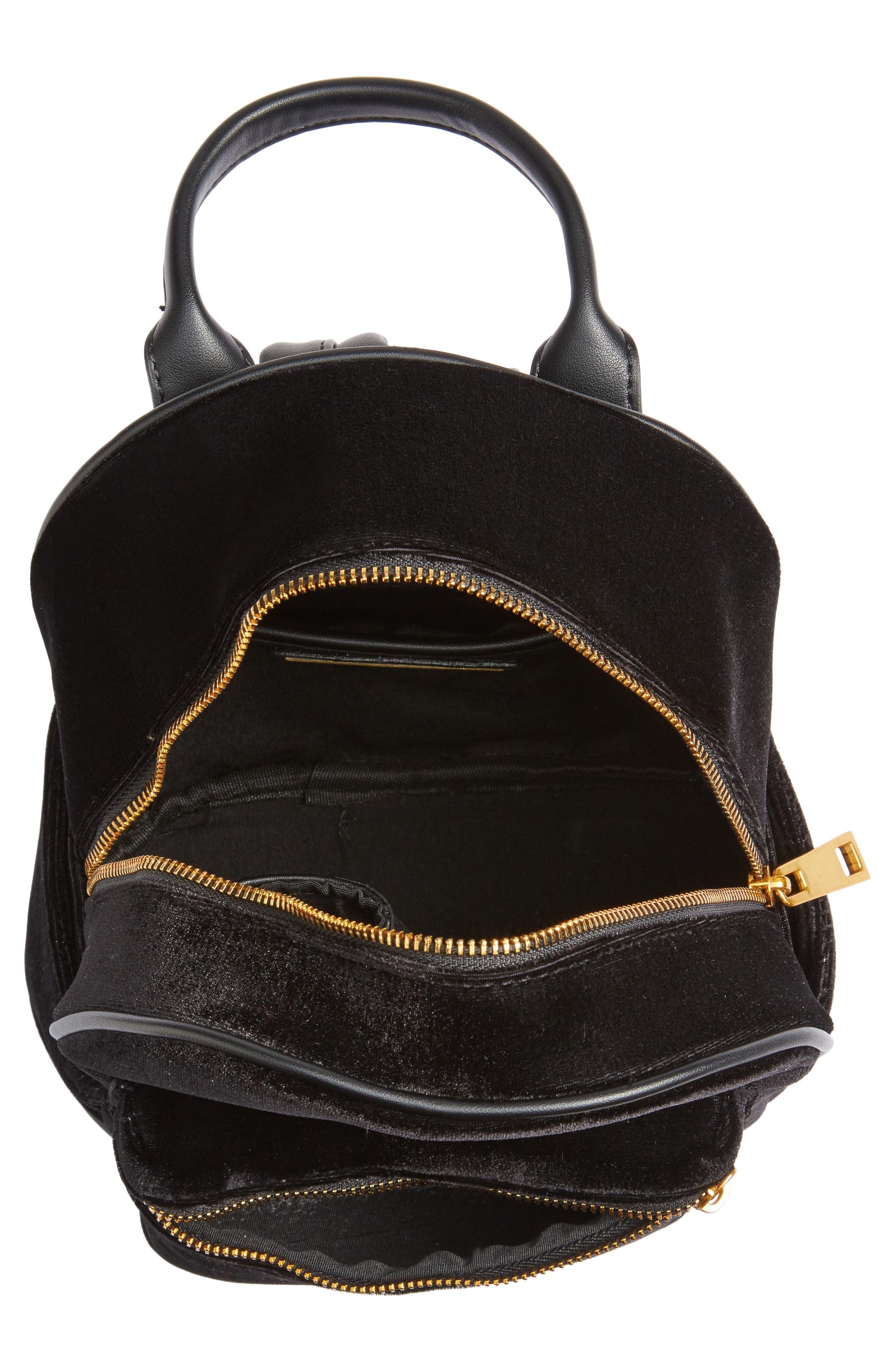 Velvet Backpack,                             Alternate thumbnail 5, color,                             Black