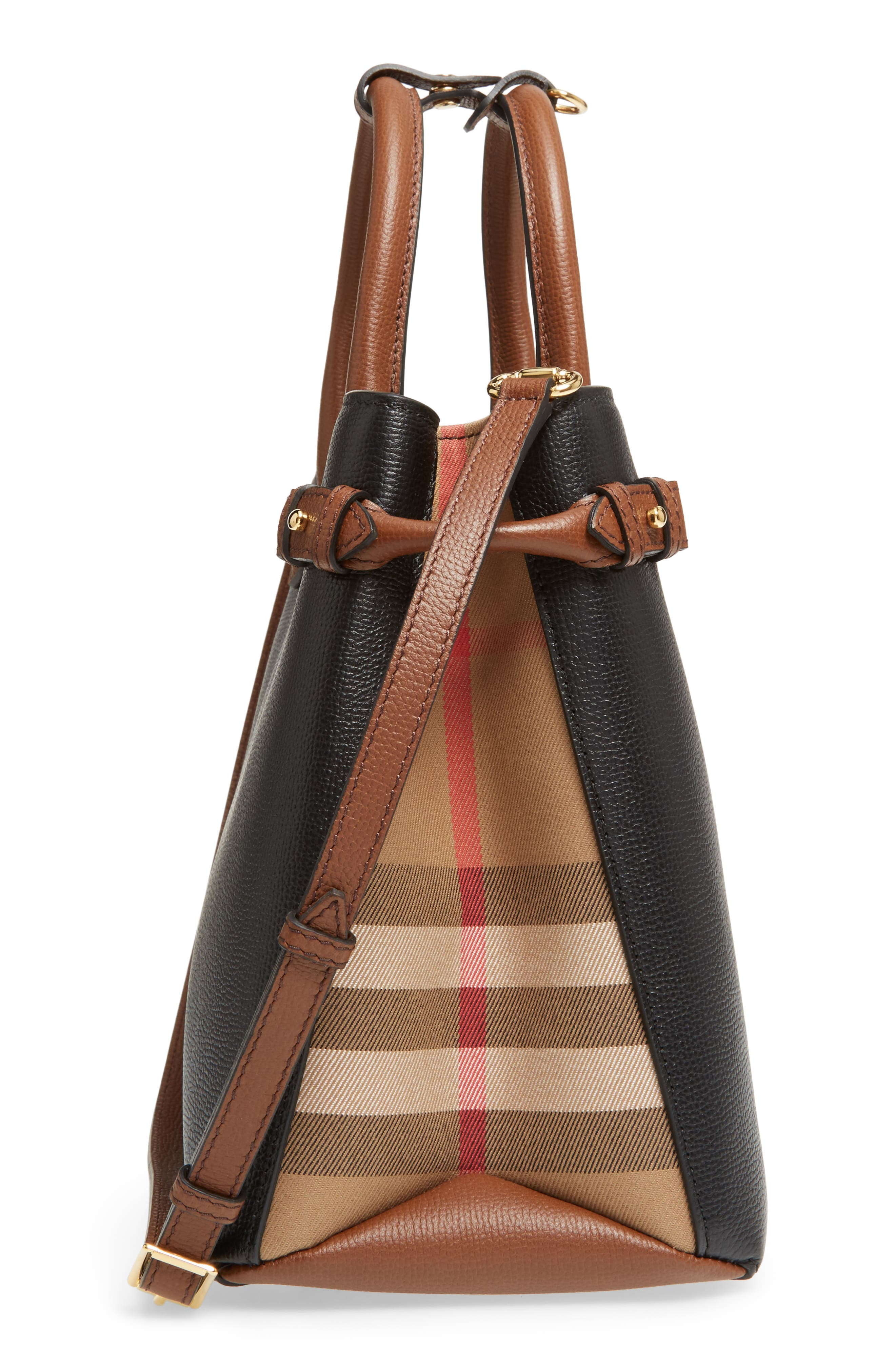 Alternate Image 4  - Burberry Medium Banner – Derby House Check Leather Satchel