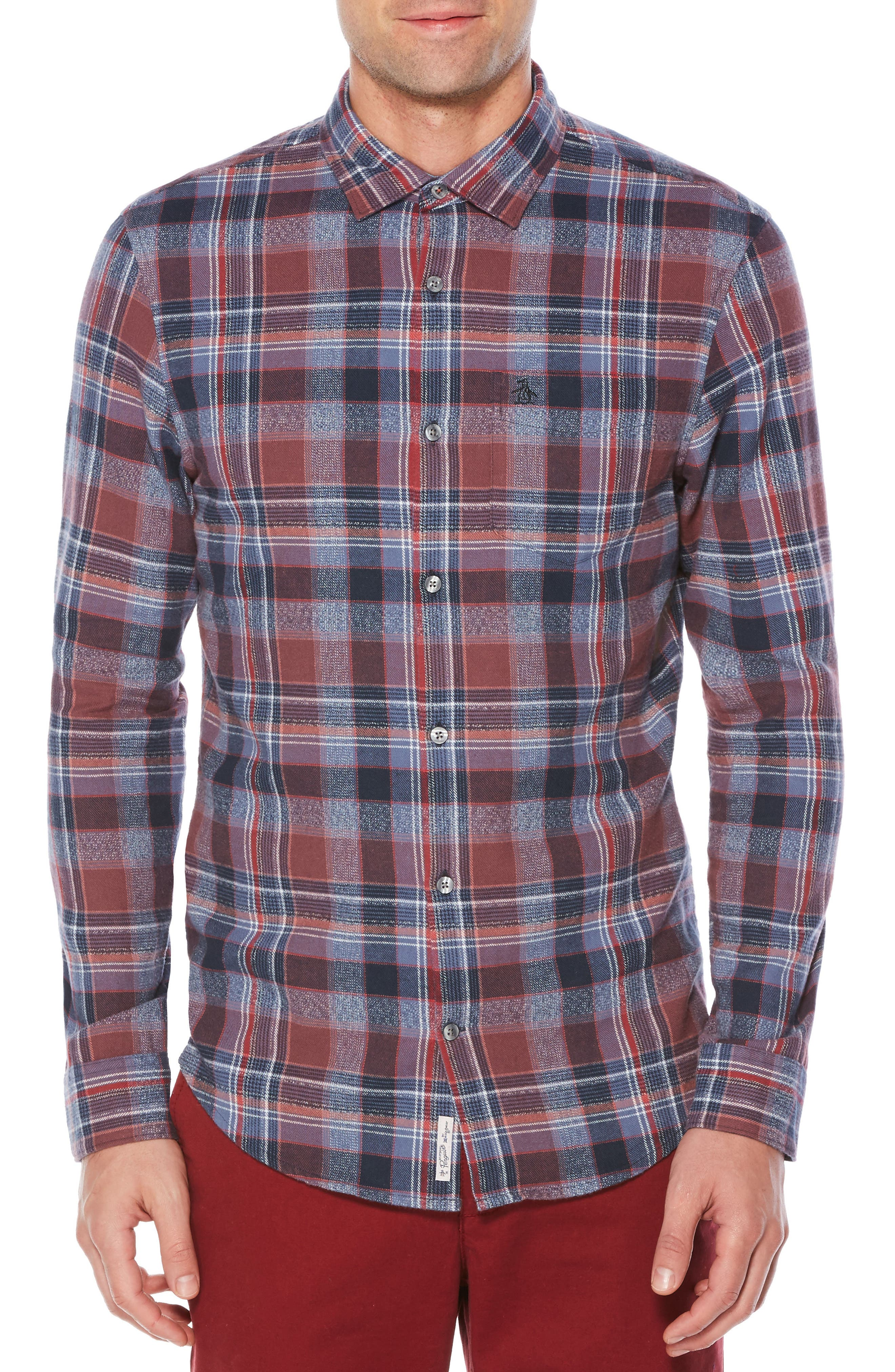 Alternate Image 1 Selected - Original Penguin Twisted Yarn Flannel Shirt