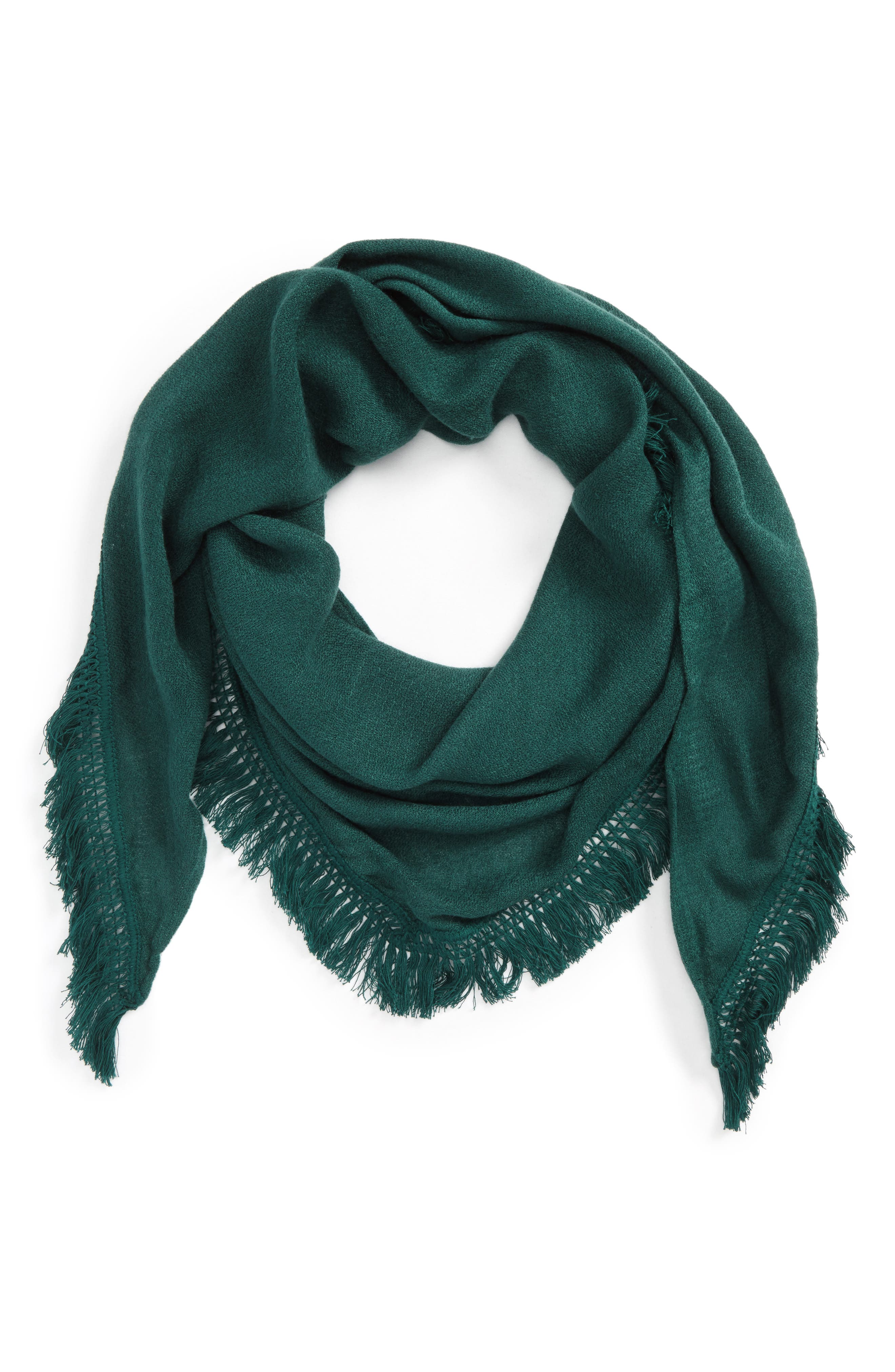 Main Image - David & Young Fringe Triangle Scarf