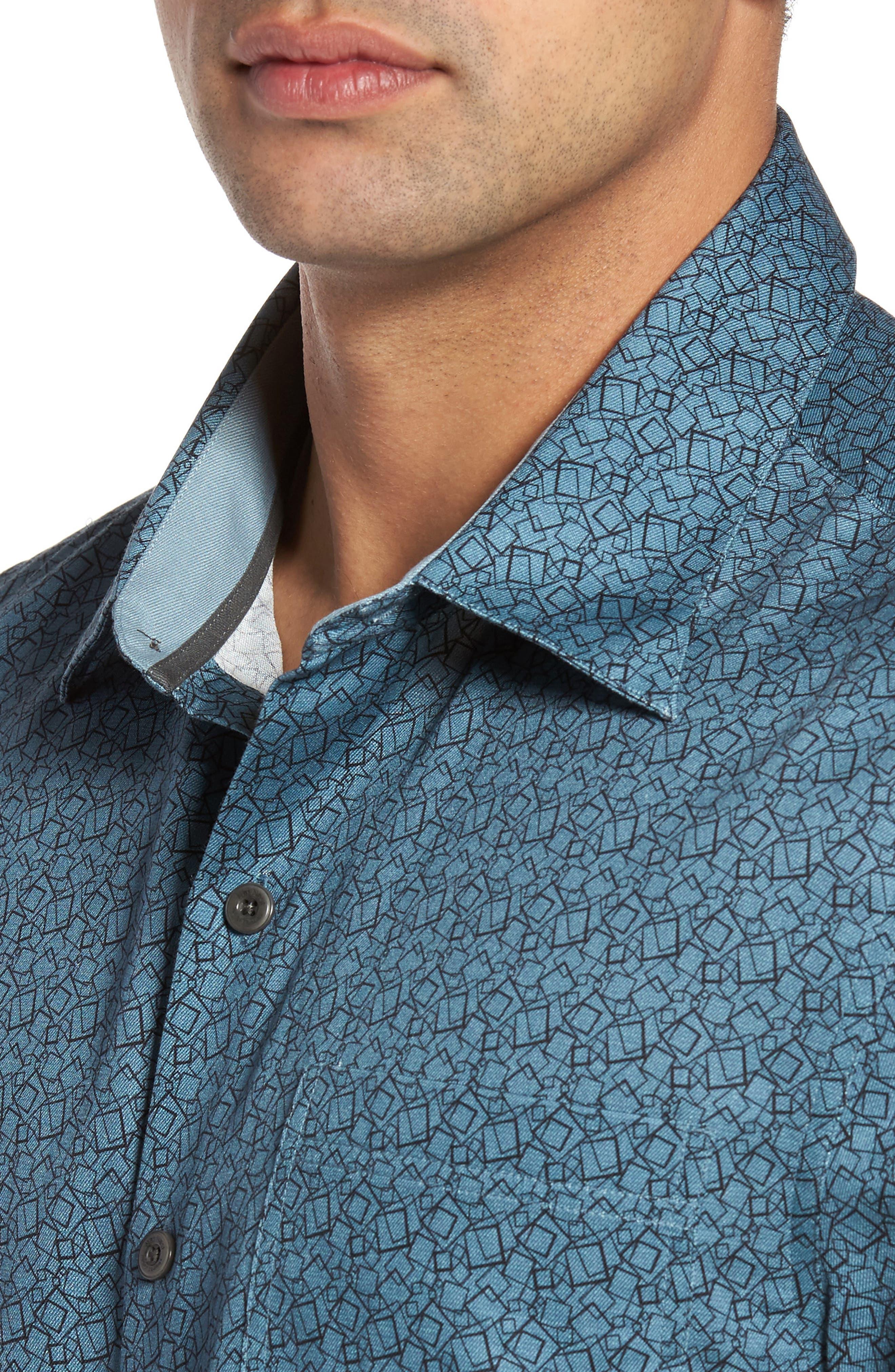 Alternate Image 4  - Nat Nast Blizzard Classic Fit Silk Blend Sport Shirt