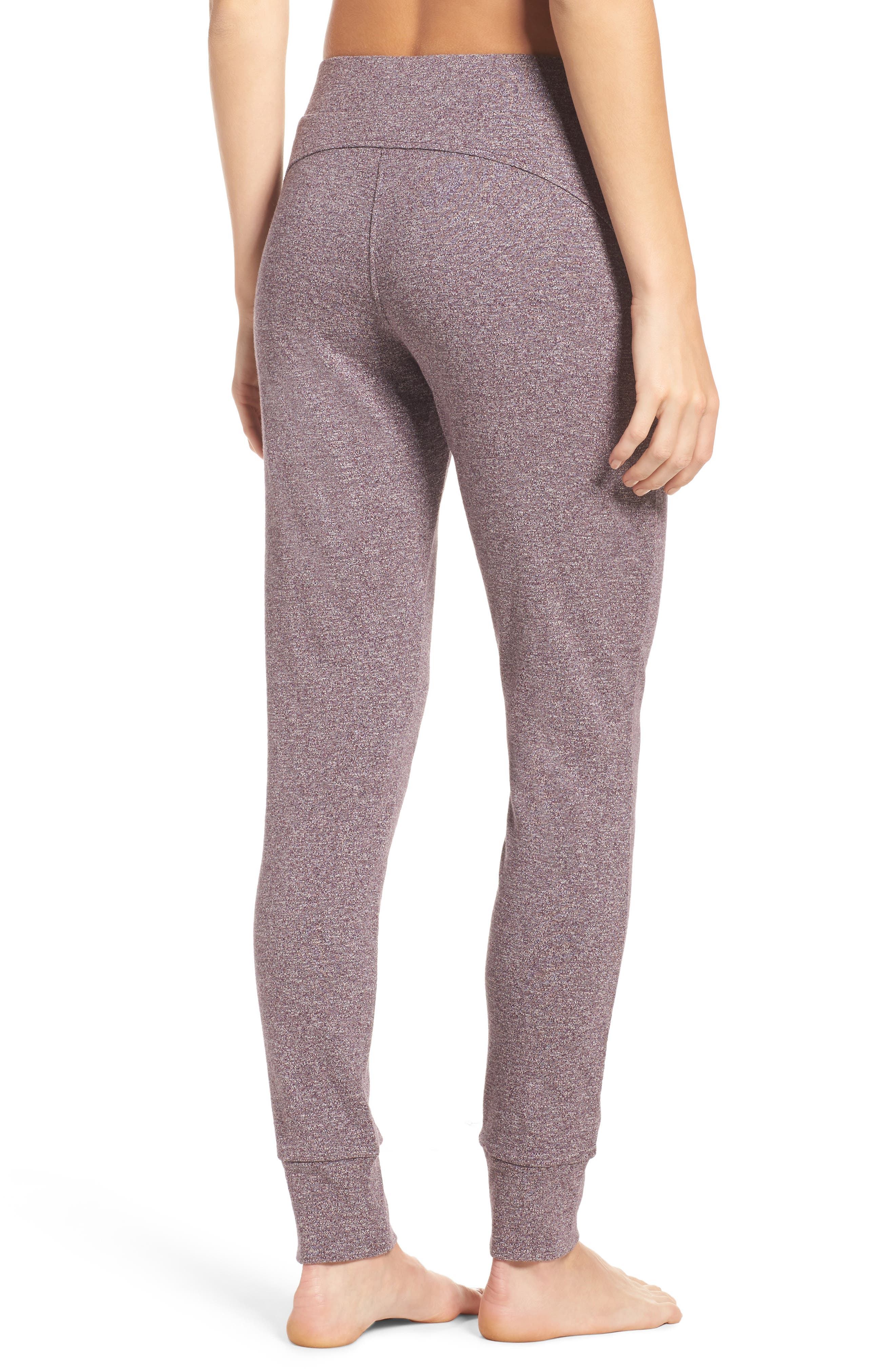 Clementine Cotton Sweatpants,                             Alternate thumbnail 2, color,                             Nightshade Heather