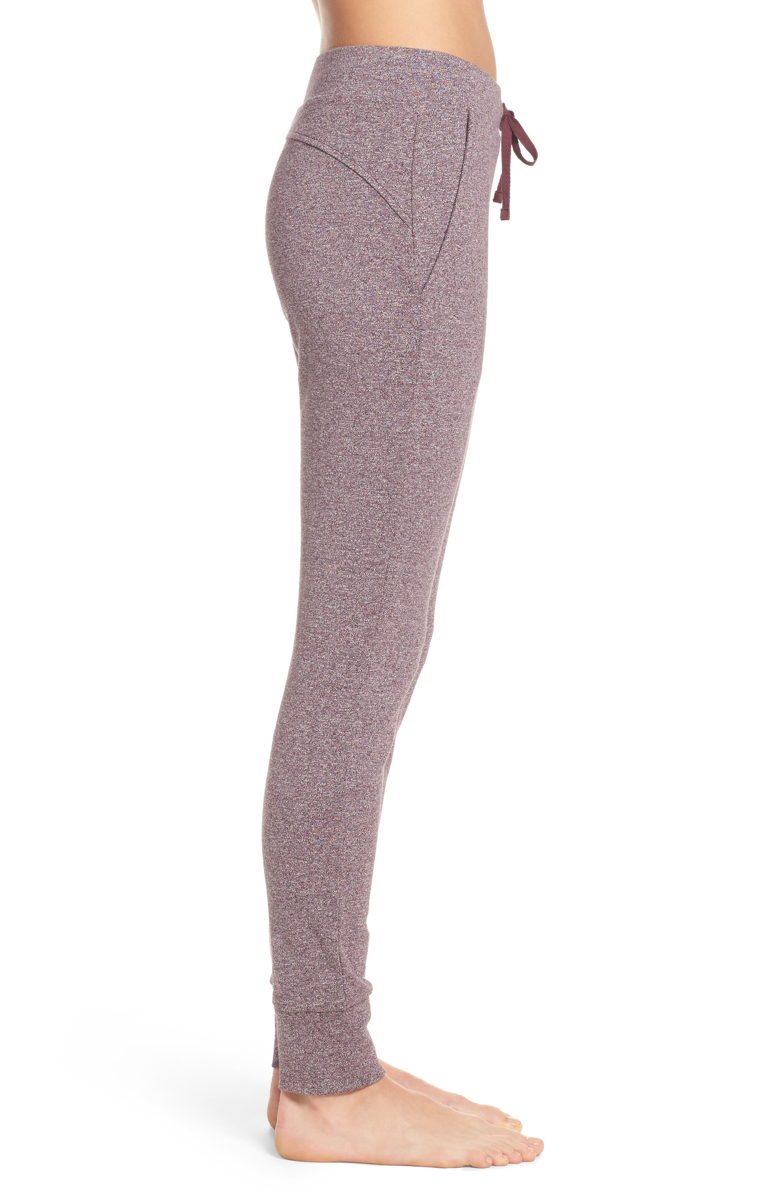 Clementine Cotton Sweatpants,                             Alternate thumbnail 3, color,                             Nightshade Heather