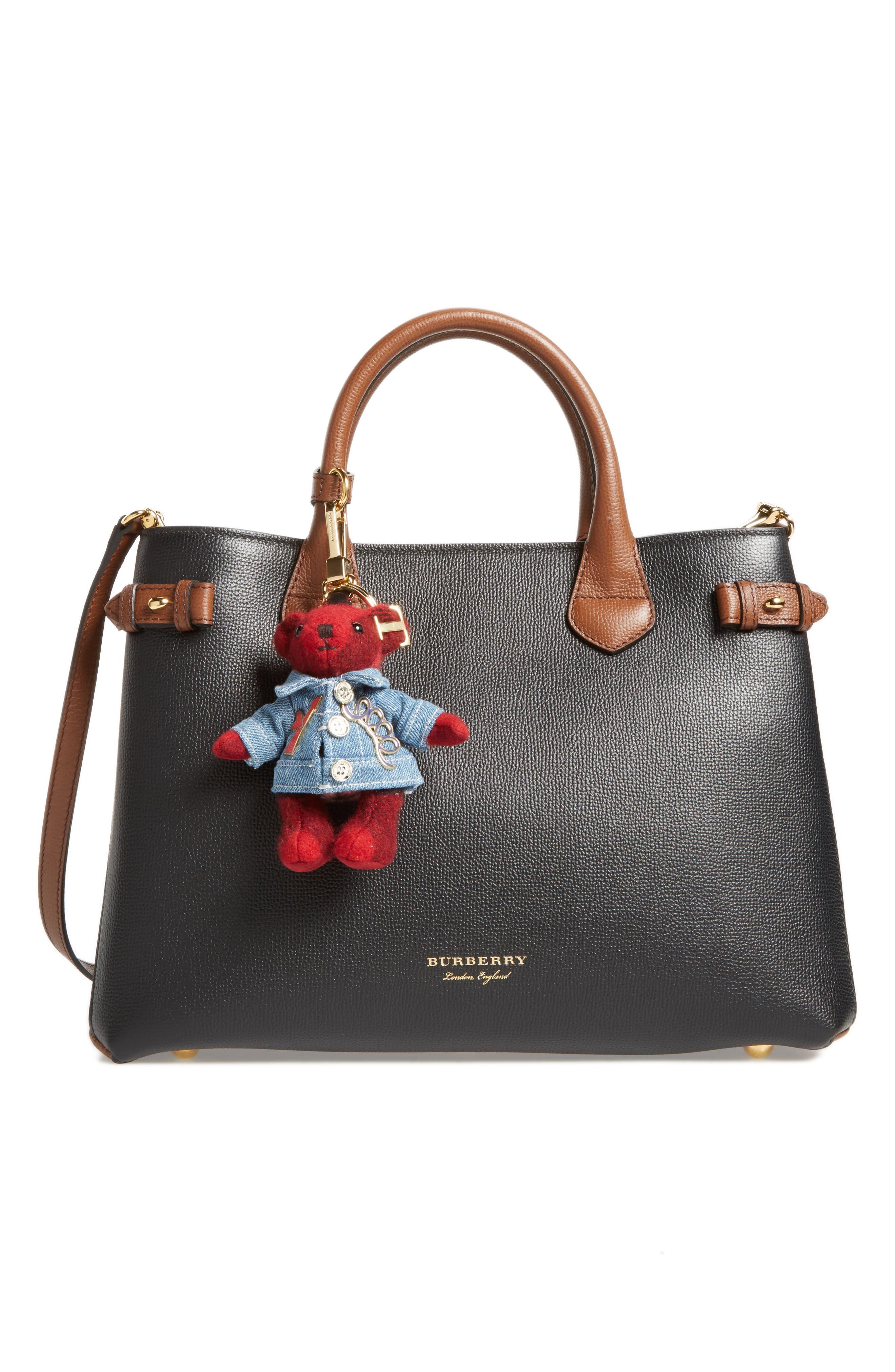 Thomas Bear Cashmere Bag Charm,                             Alternate thumbnail 2, color,                             Parade Red