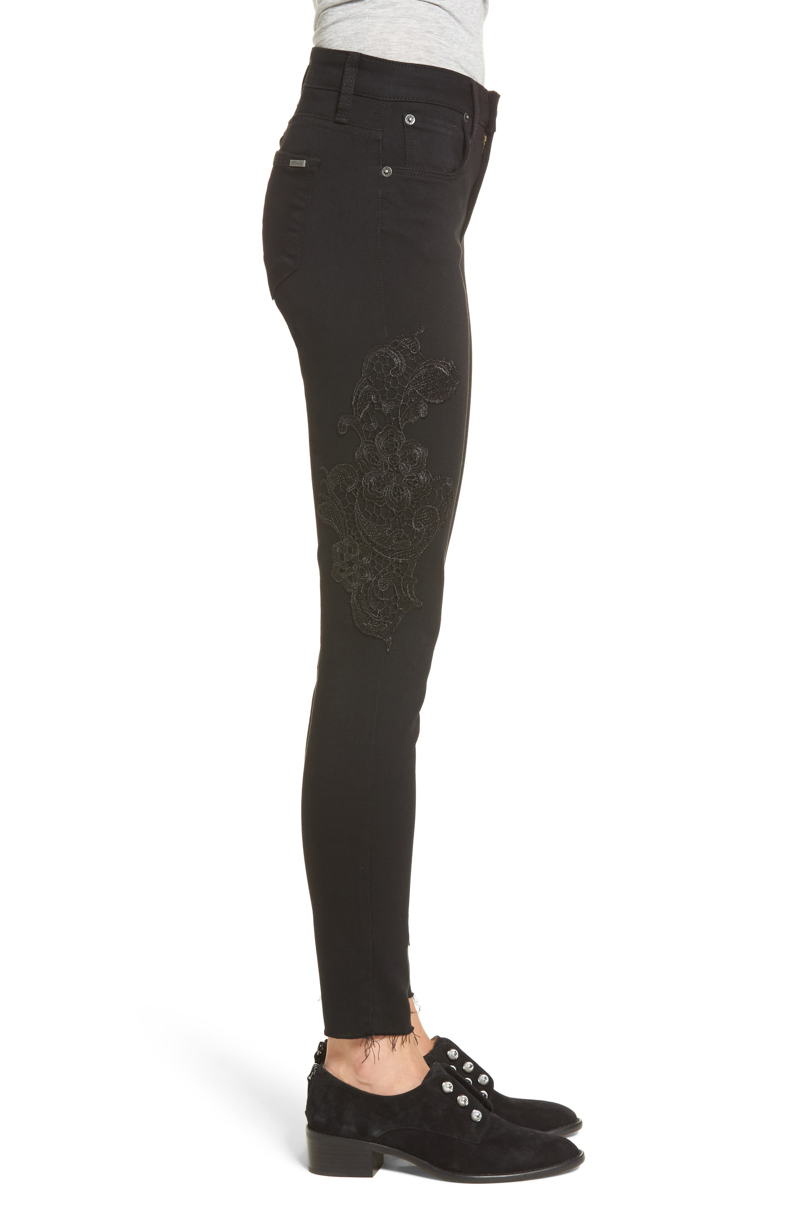 Alternate Image 3  - STS Blue Piper Lace Appliqué Skinny Ankle Jeans