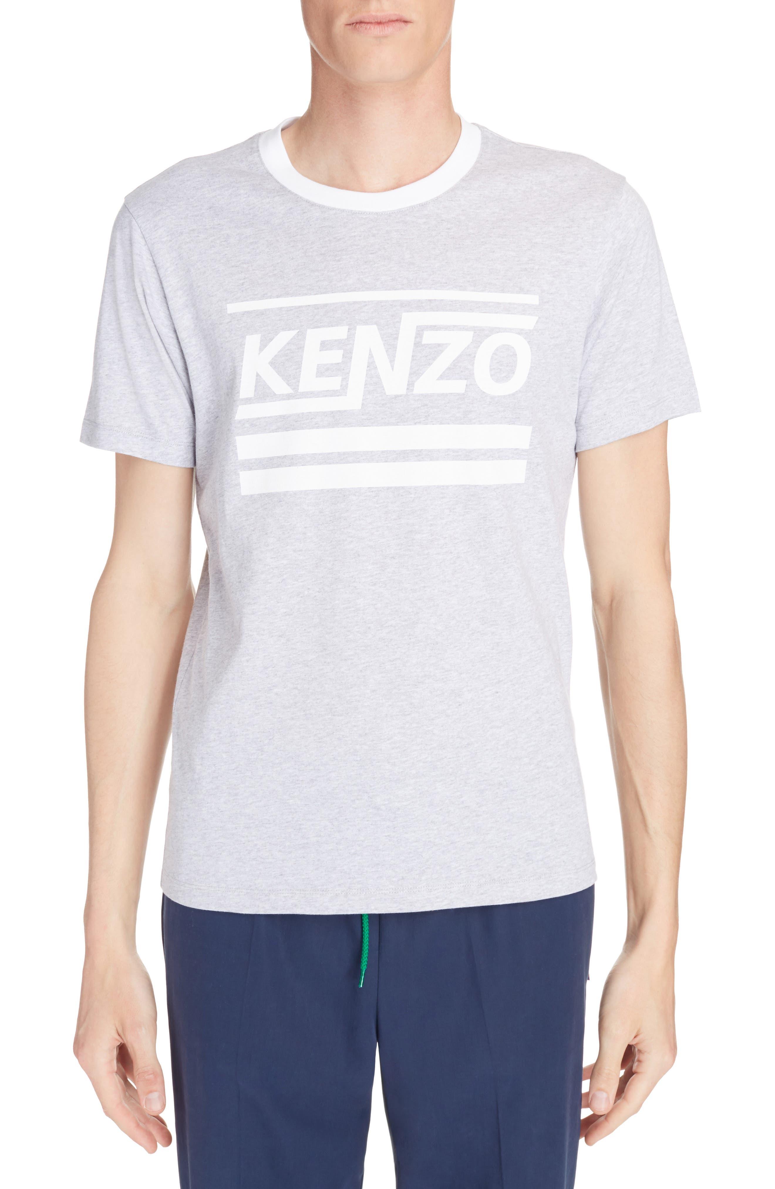 Logo Graphic T-Shirt,                             Main thumbnail 1, color,                             Pearl Grey