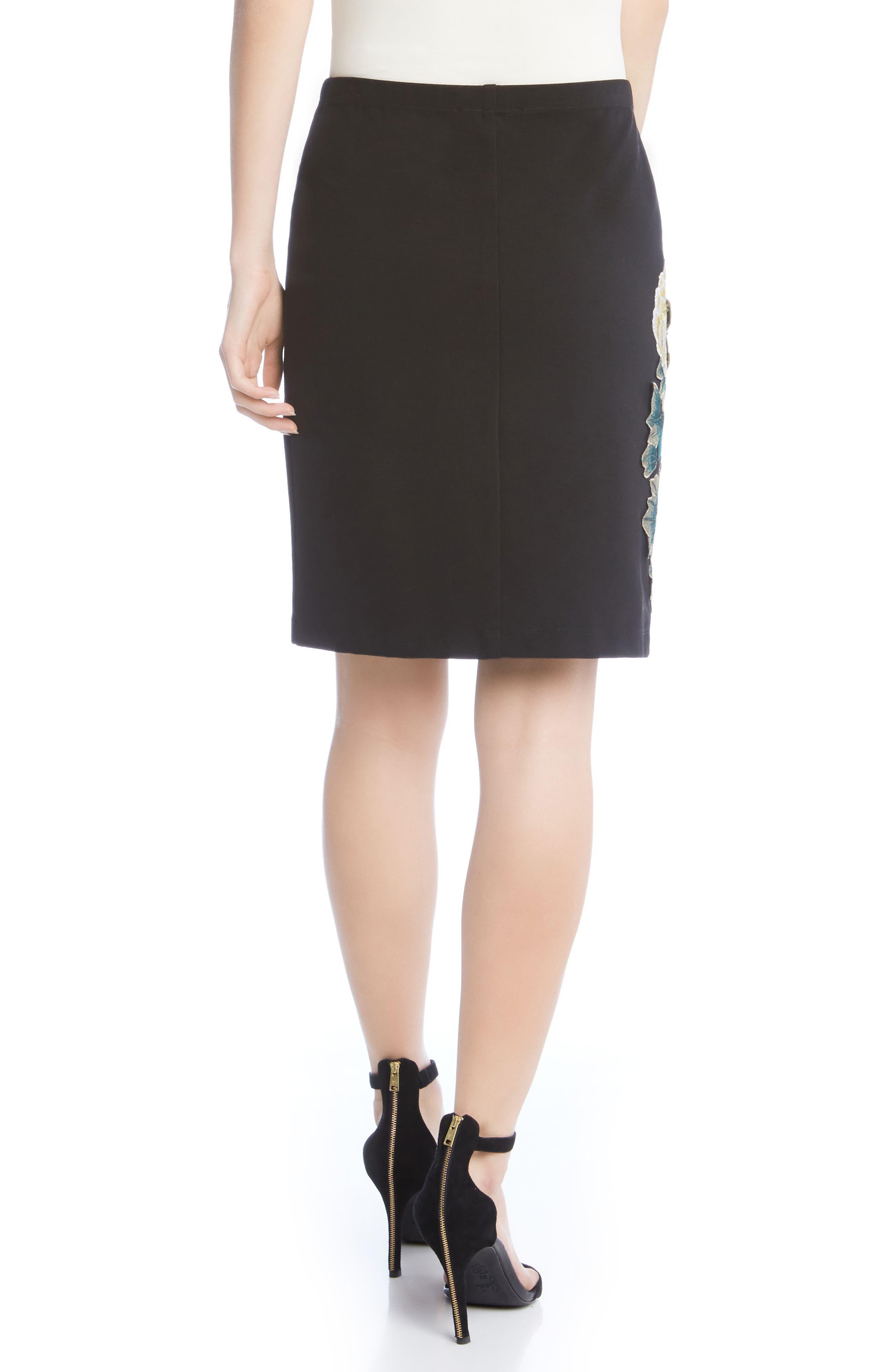 Alternate Image 2  - Karen Kane Textured Floral Skirt