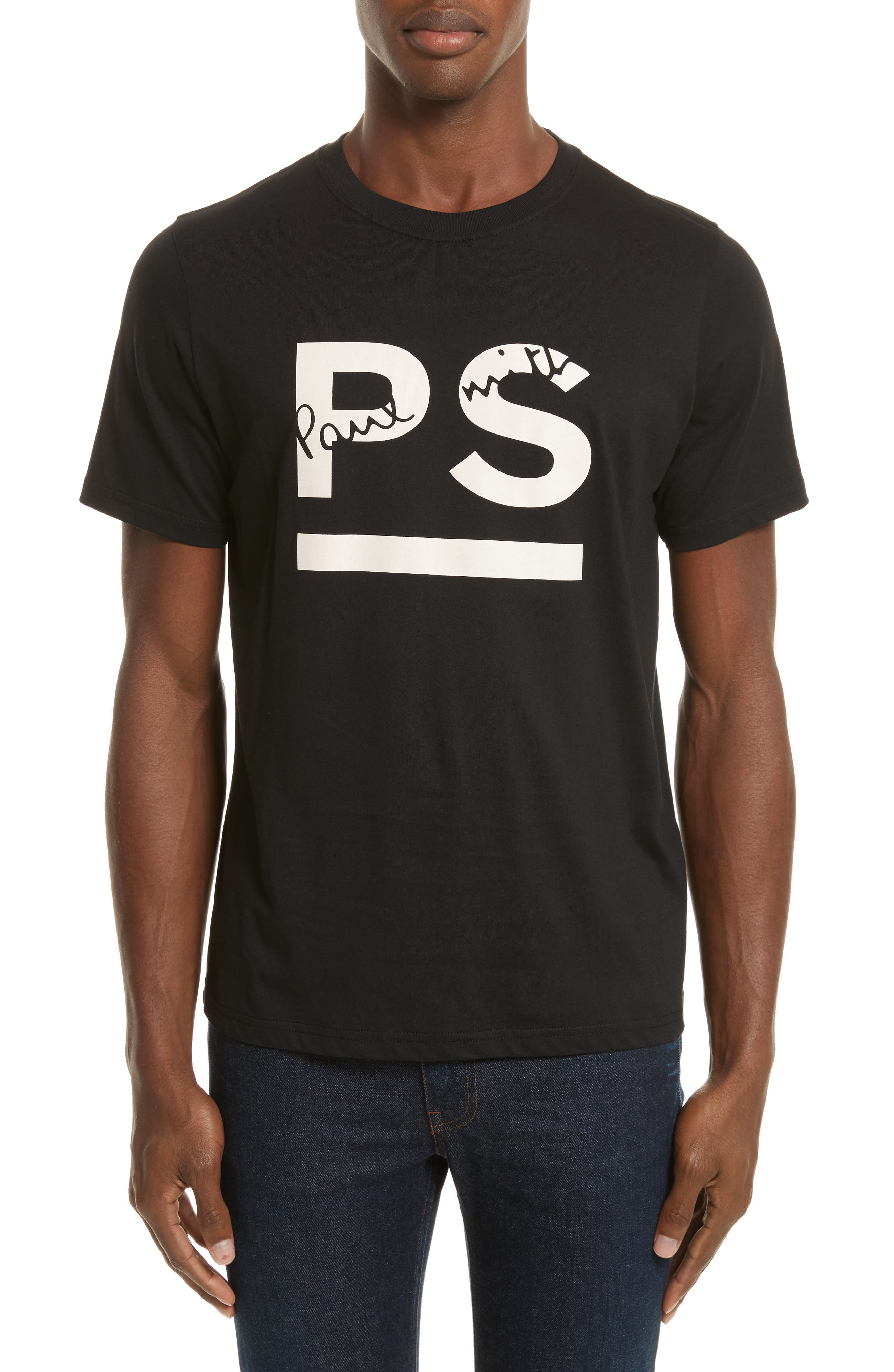 PS Graphic T-Shirt,                         Main,                         color, Black