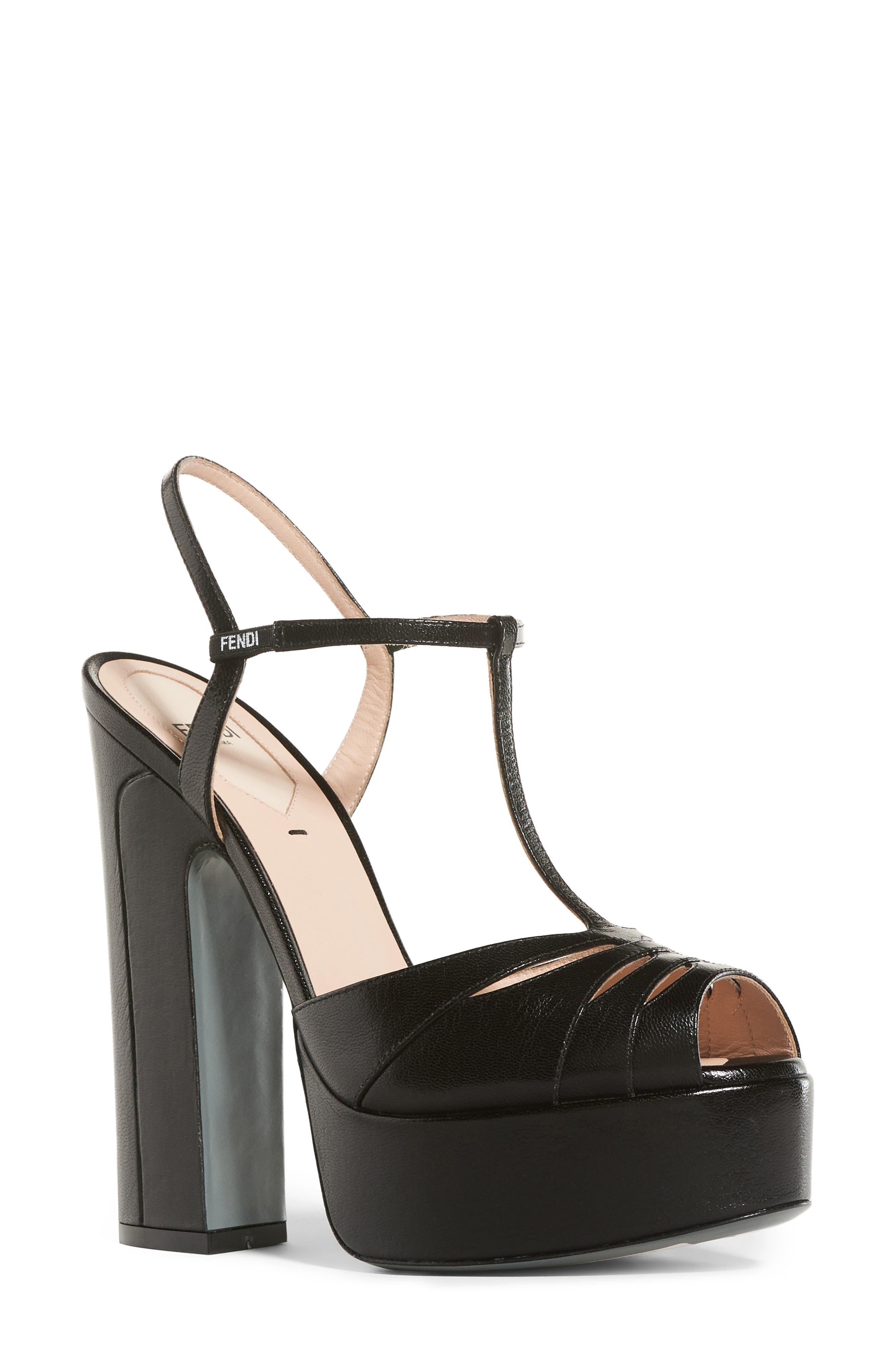 Fendi Duo Platform Sandal (Women)