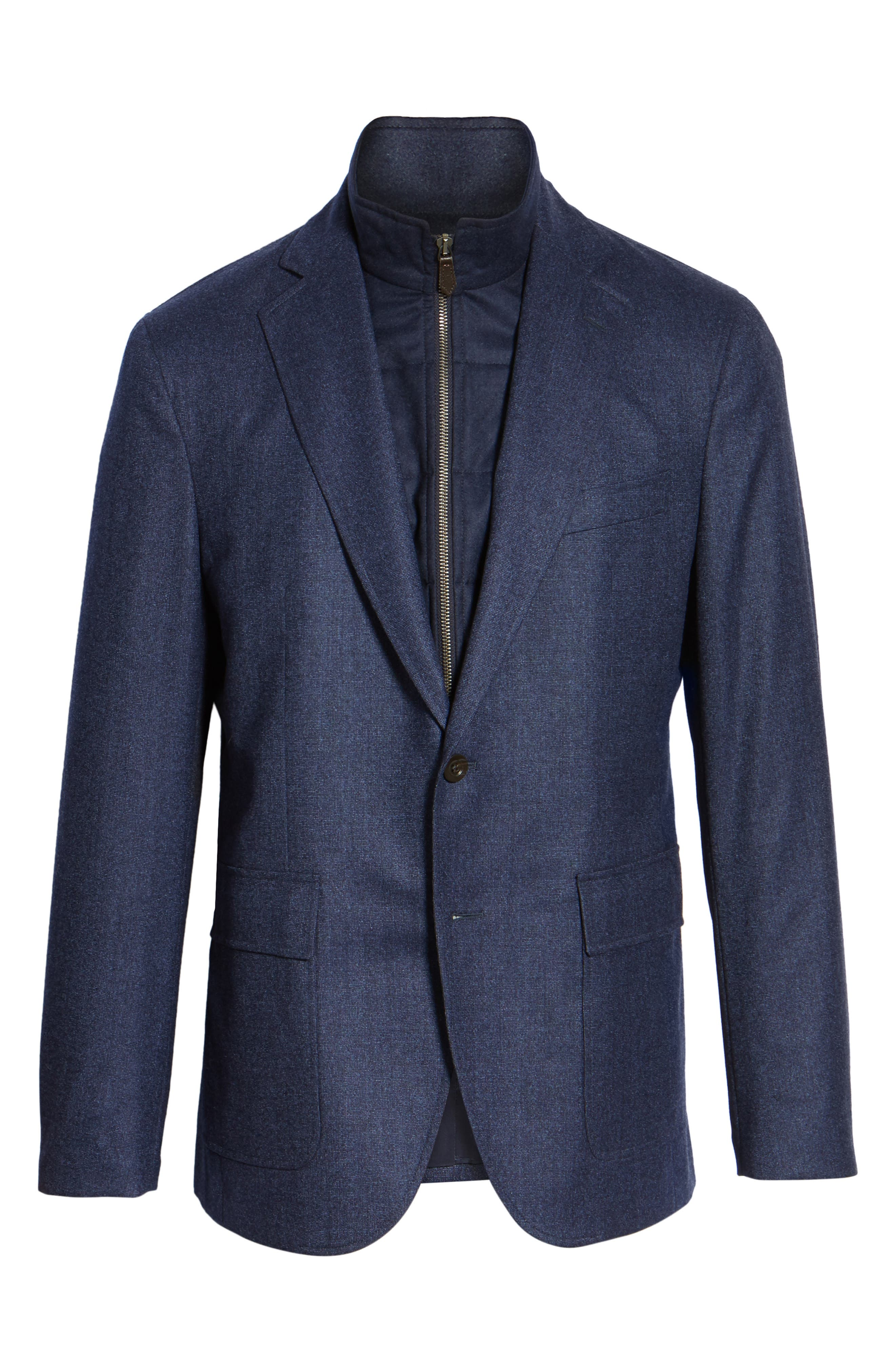 Alternate Image 6  - David Donahue Aaron Classic Fit Wool Blazer