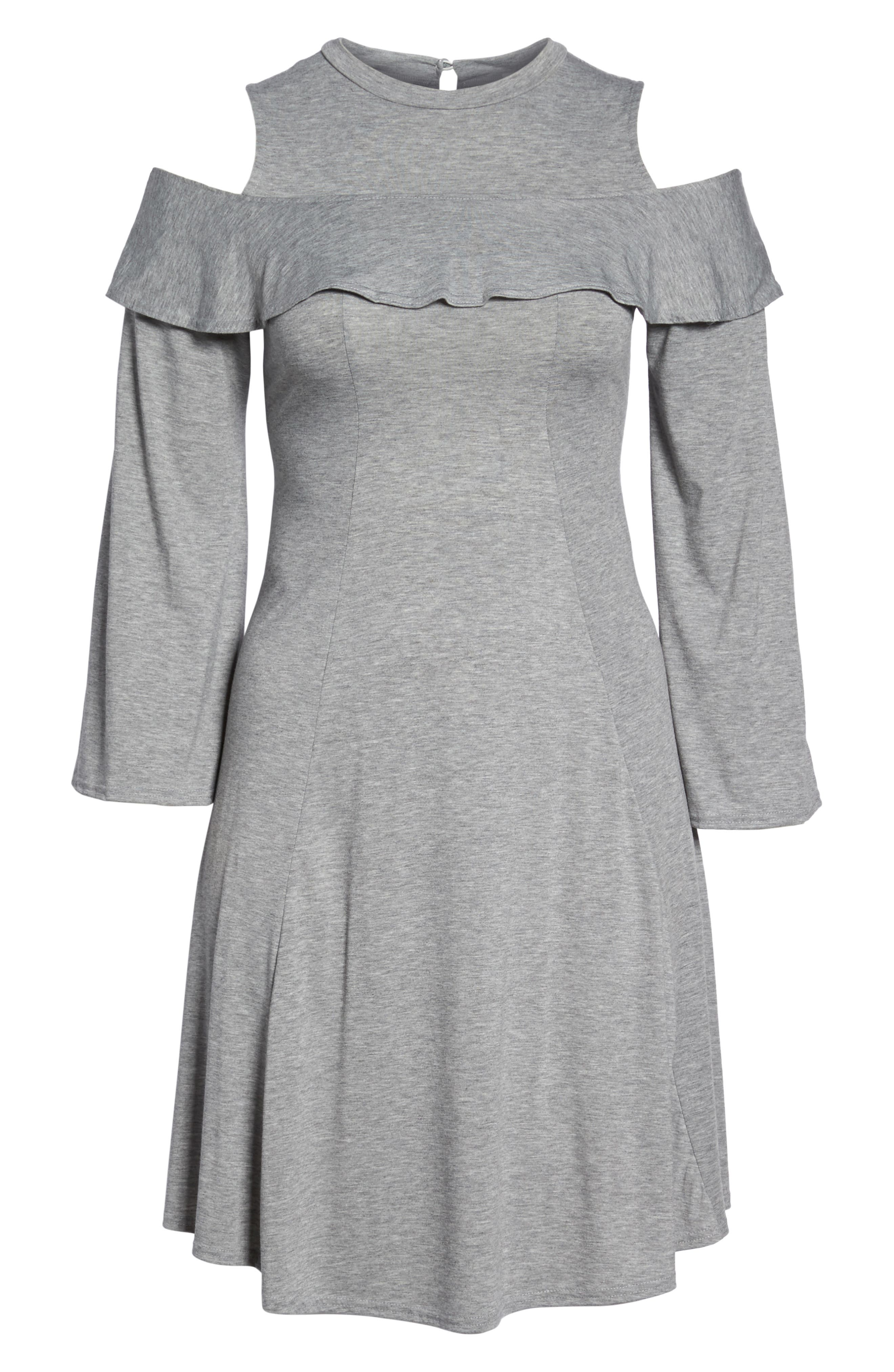 Alternate Image 8  - LOST INK Jersey Fit & Flare Dress (Plus Size)